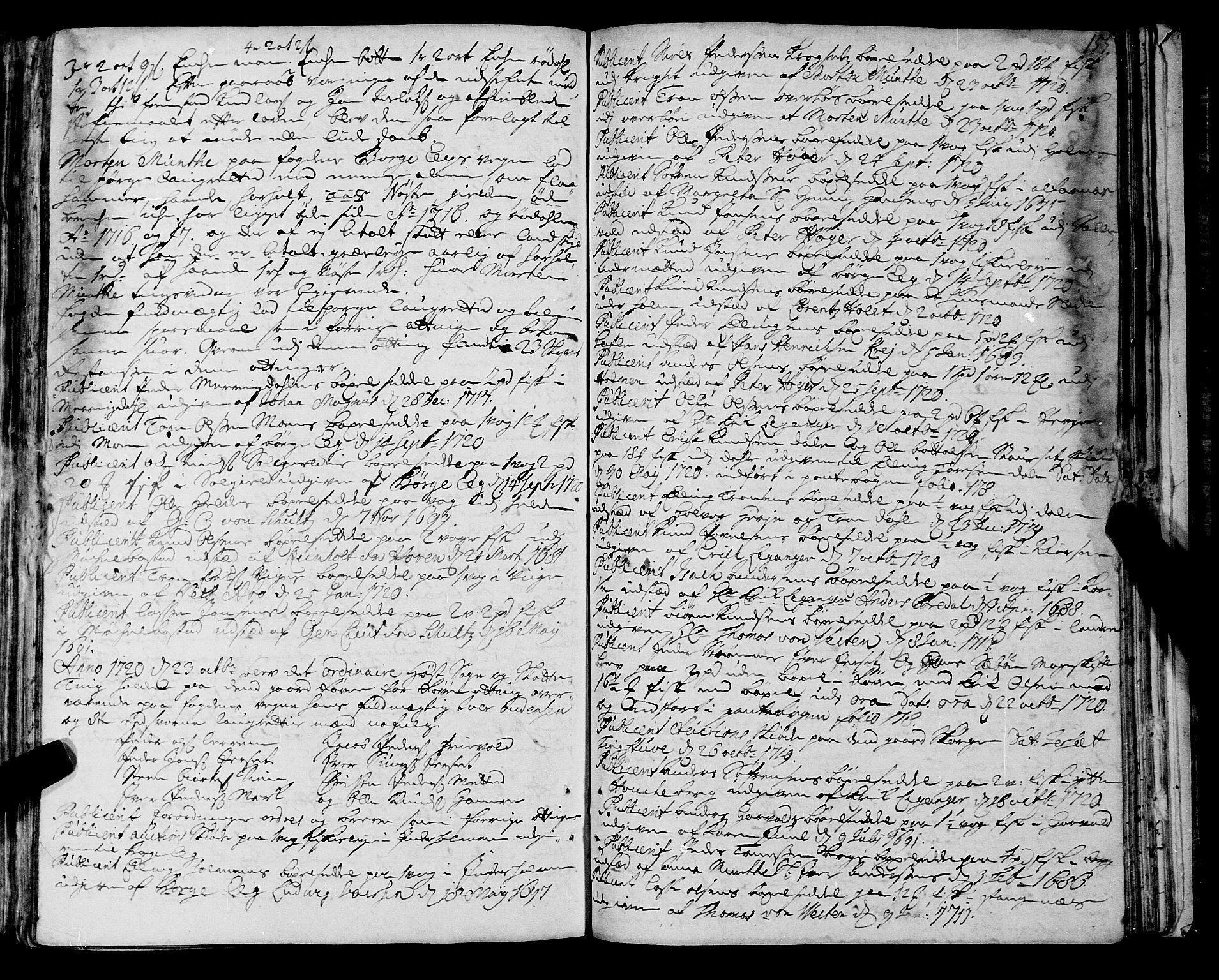 SAT, Romsdal sorenskriveri, 1/1A/L0008: Tingbok, 1714-1721, s. 154b-155a