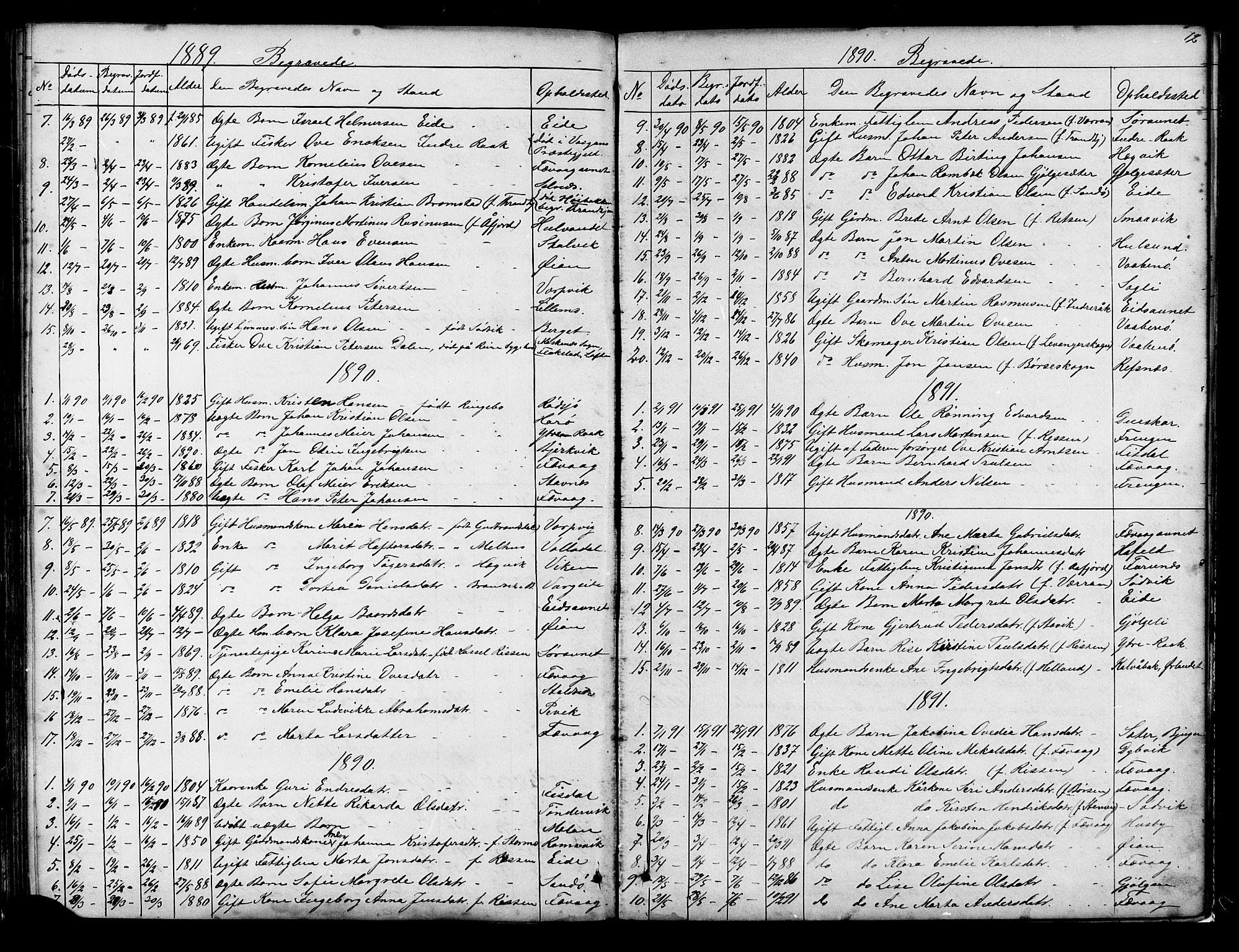 SAT, Ministerialprotokoller, klokkerbøker og fødselsregistre - Sør-Trøndelag, 653/L0657: Klokkerbok nr. 653C01, 1866-1893, s. 72