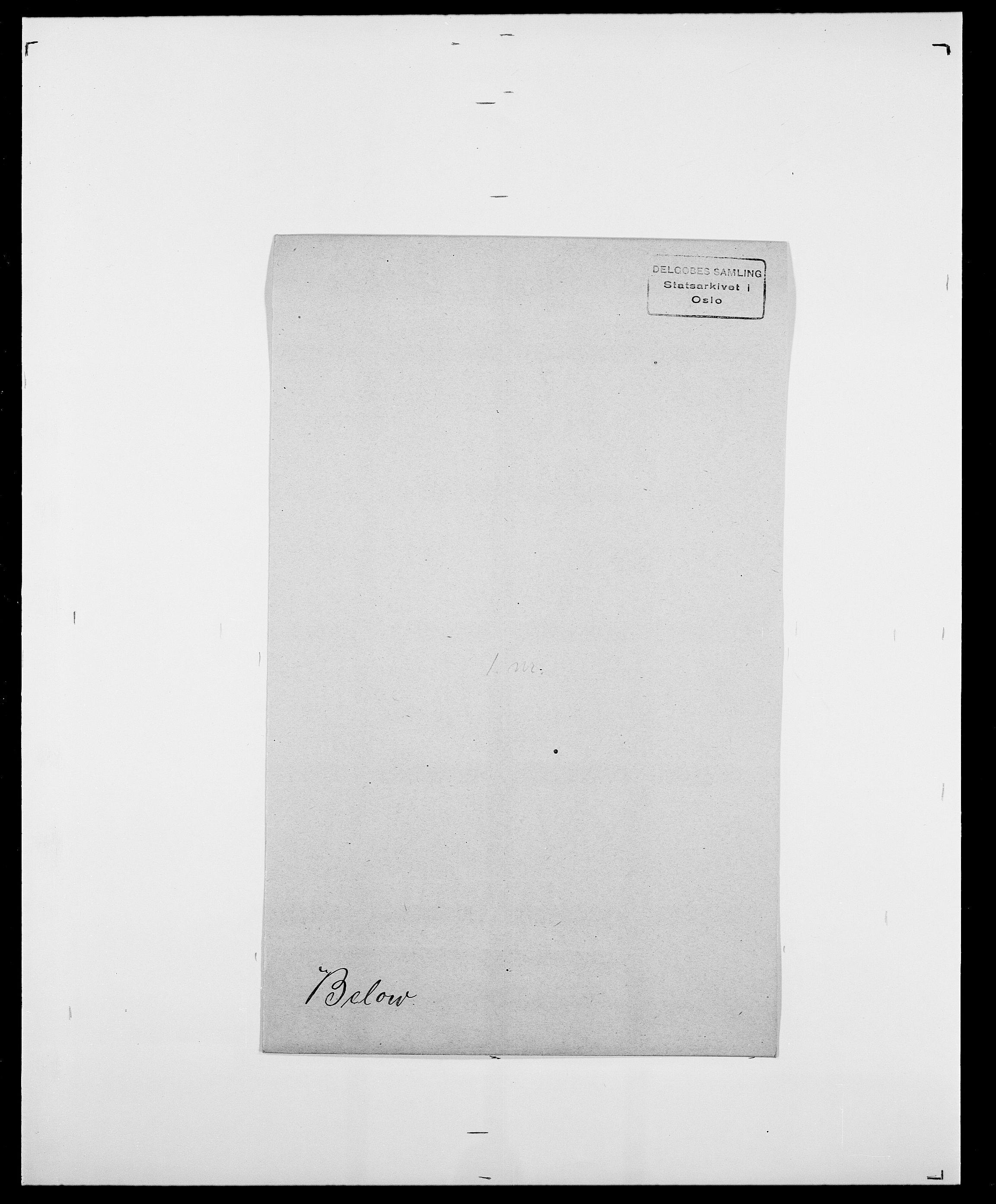 SAO, Delgobe, Charles Antoine - samling, D/Da/L0003: Barca - Bergen, s. 726