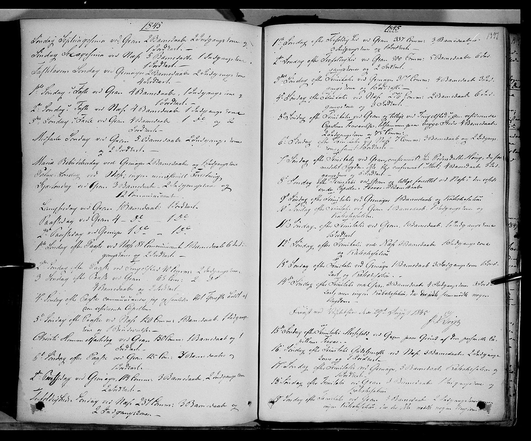 SAH, Gran prestekontor, Ministerialbok nr. 11, 1842-1856, s. 1396-1397
