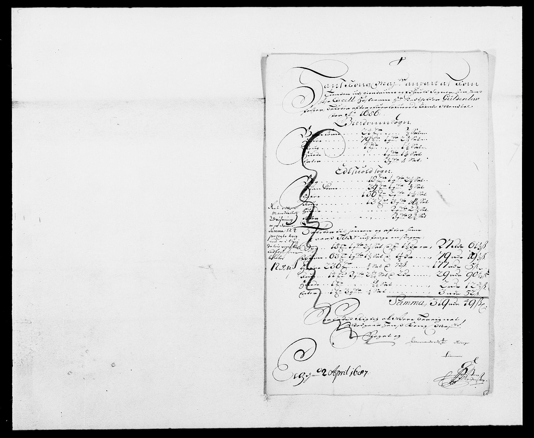 RA, Rentekammeret inntil 1814, Reviderte regnskaper, Fogderegnskap, R12/L0699: Fogderegnskap Øvre Romerike, 1685-1686, s. 202