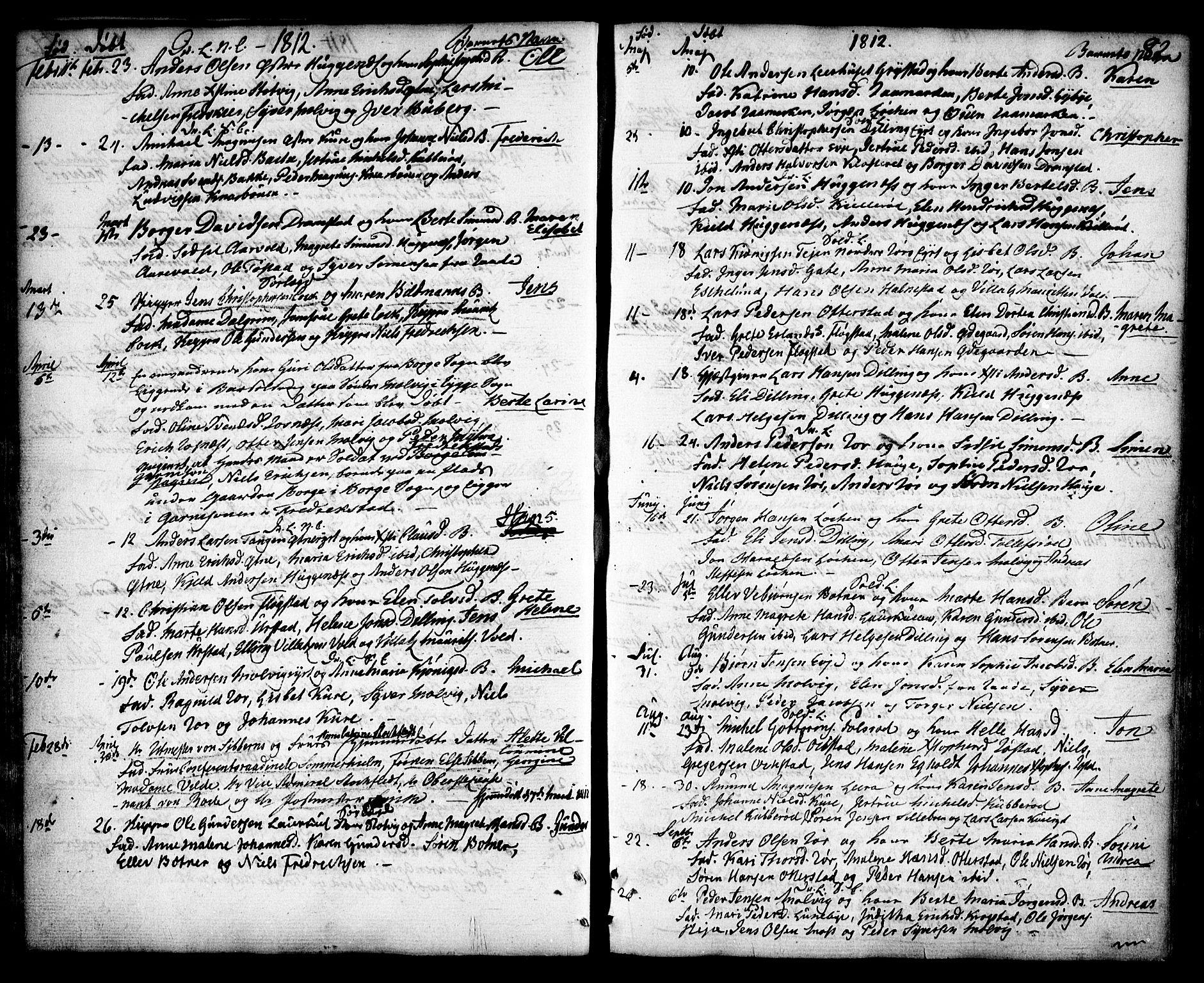 SAO, Rygge prestekontor Kirkebøker, F/Fa/L0002: Ministerialbok nr. 2, 1771-1814, s. 82