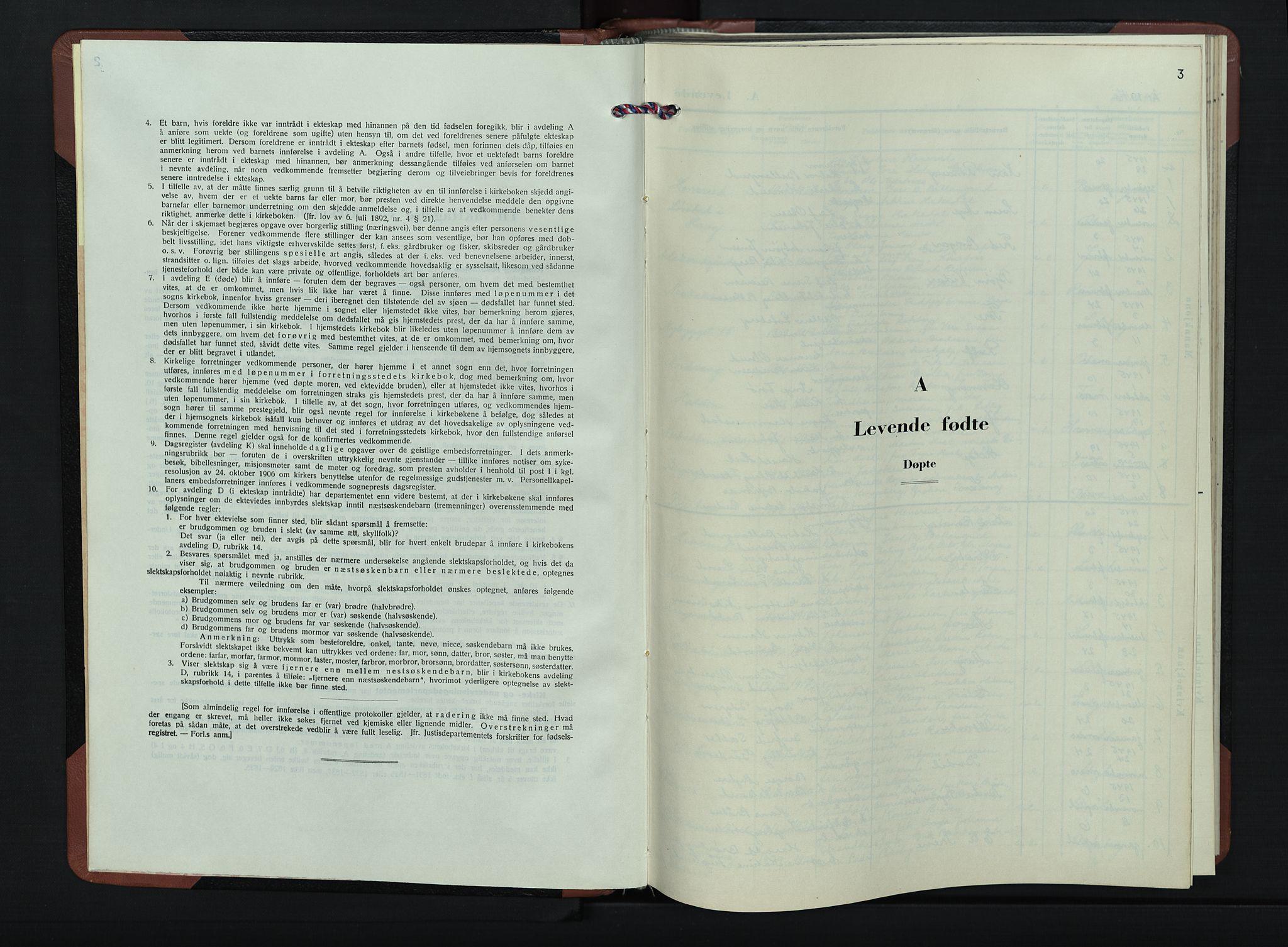 SAH, Jevnaker prestekontor, Klokkerbok nr. 7, 1943-1953, s. 3