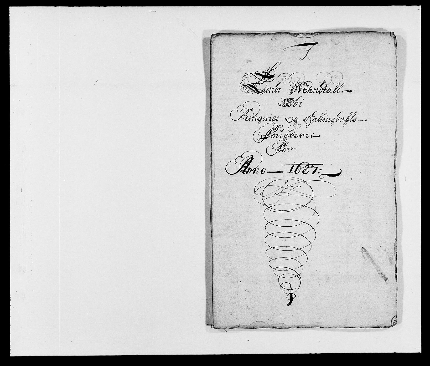 RA, Rentekammeret inntil 1814, Reviderte regnskaper, Fogderegnskap, R21/L1447: Fogderegnskap Ringerike og Hallingdal, 1687-1689, s. 79