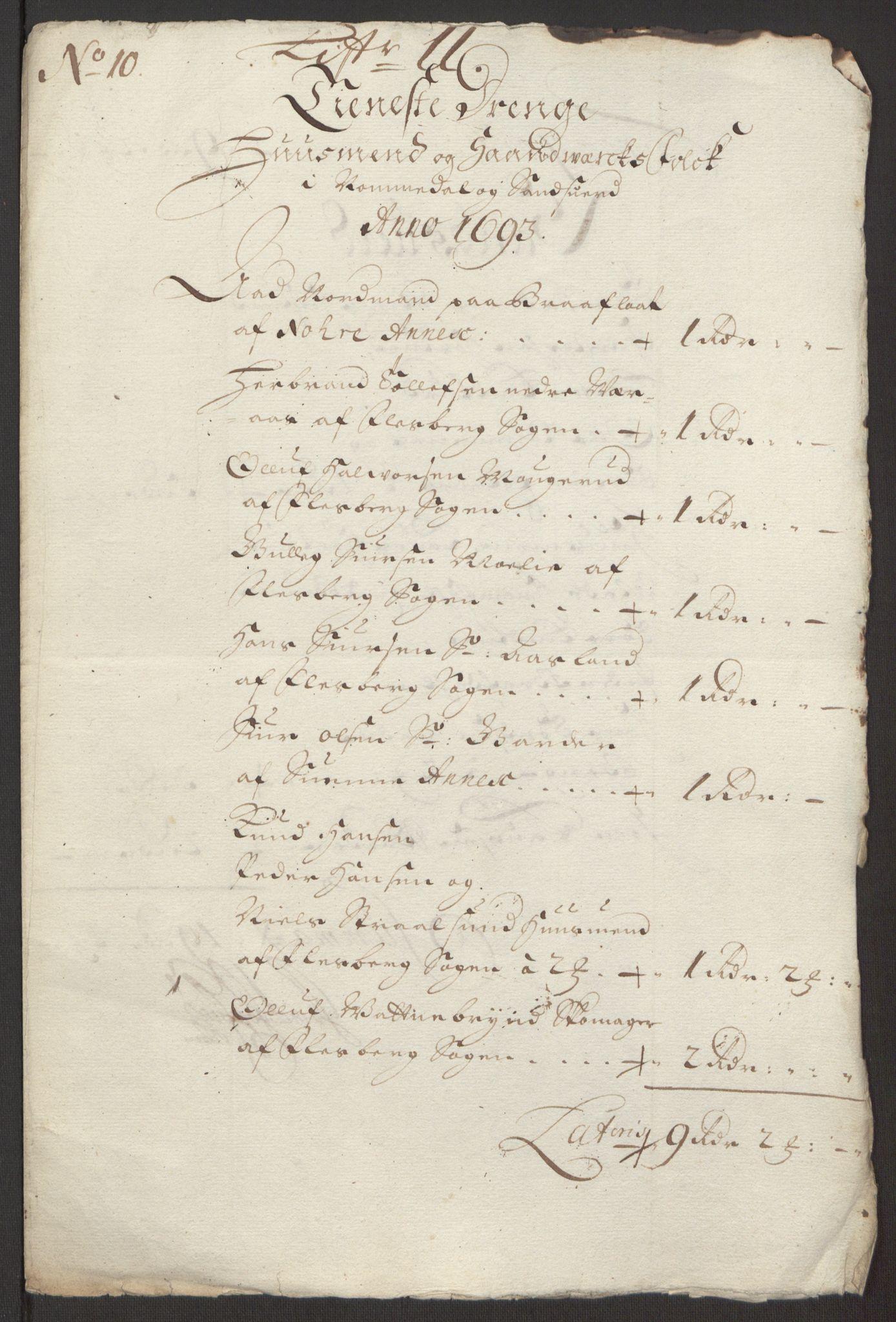 RA, Rentekammeret inntil 1814, Reviderte regnskaper, Fogderegnskap, R24/L1575: Fogderegnskap Numedal og Sandsvær, 1692-1695, s. 180