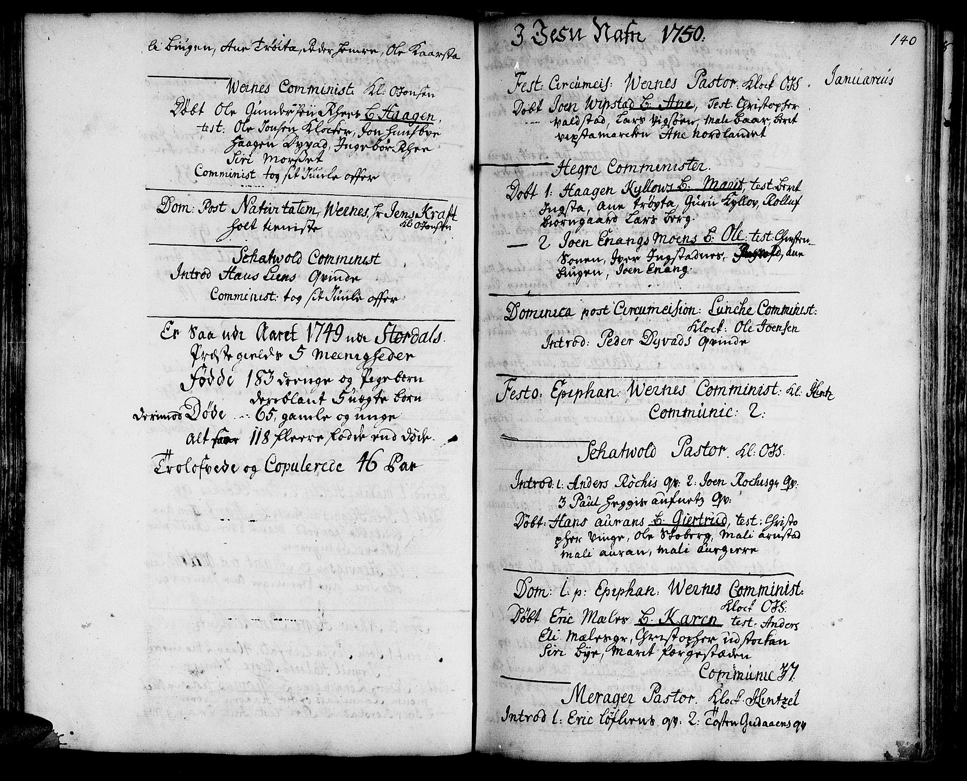 SAT, Ministerialprotokoller, klokkerbøker og fødselsregistre - Nord-Trøndelag, 709/L0056: Ministerialbok nr. 709A04, 1740-1756, s. 140