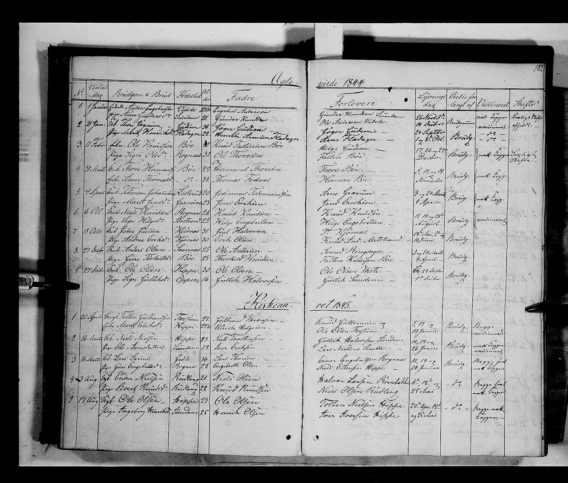 SAH, Nord-Aurdal prestekontor, Ministerialbok nr. 6, 1842-1863, s. 182