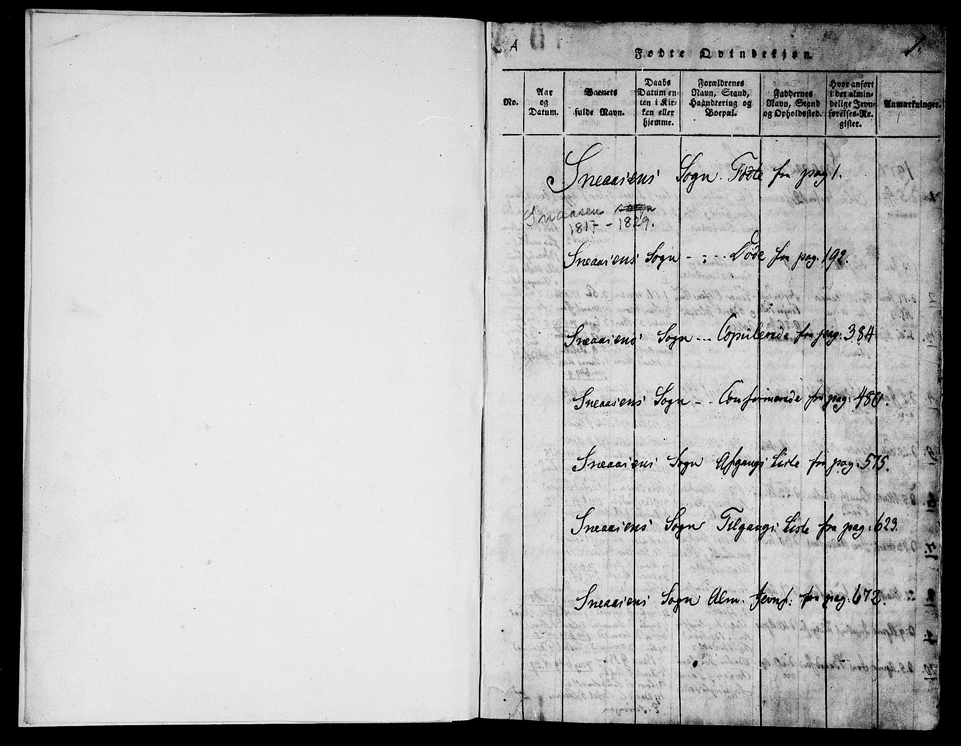 SAT, Ministerialprotokoller, klokkerbøker og fødselsregistre - Nord-Trøndelag, 749/L0479: Klokkerbok nr. 749C01, 1817-1829, s. 0-1