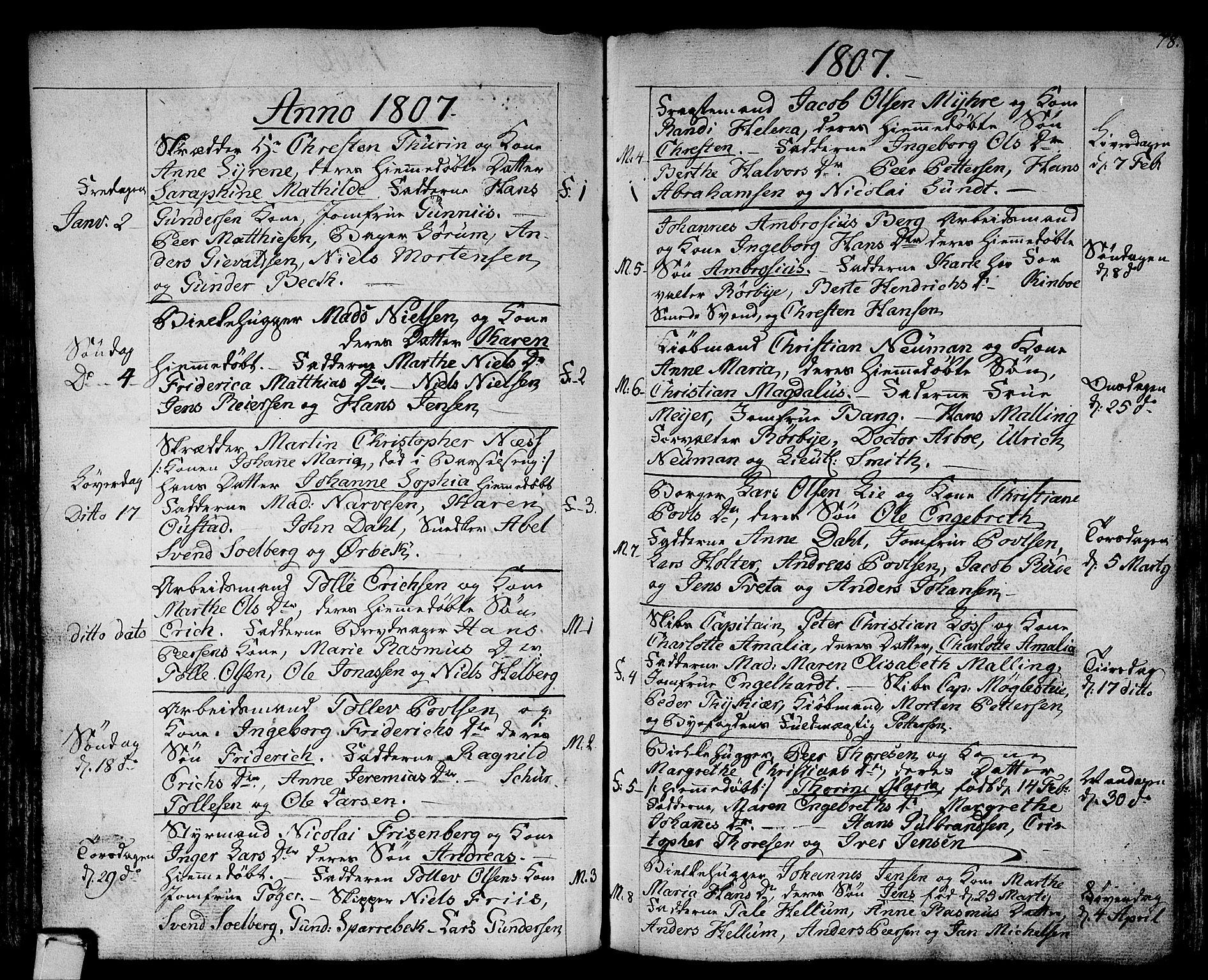 SAKO, Strømsø kirkebøker, F/Fa/L0010: Ministerialbok nr. I 10, 1792-1822, s. 78