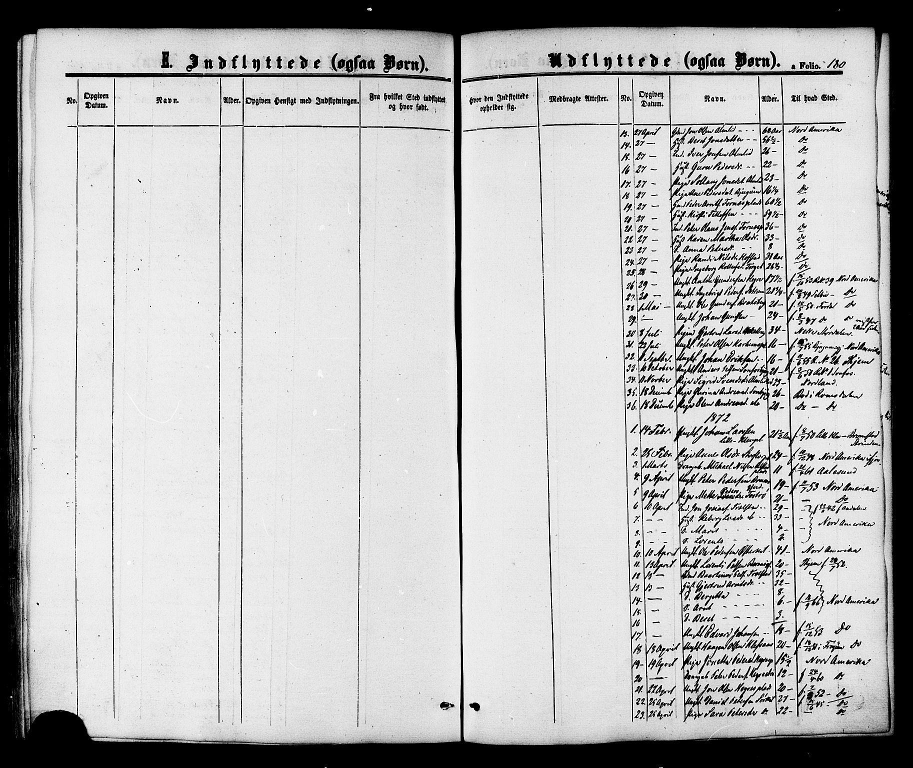 SAT, Ministerialprotokoller, klokkerbøker og fødselsregistre - Nord-Trøndelag, 703/L0029: Ministerialbok nr. 703A02, 1863-1879, s. 180