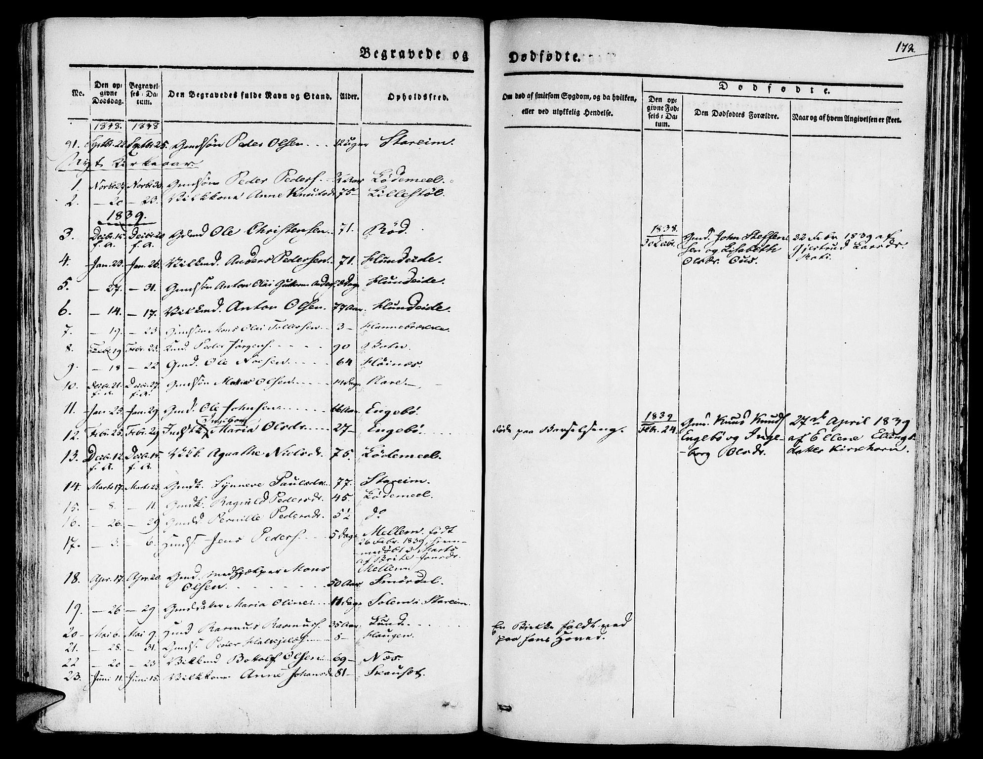 SAB, Eid Sokneprestembete, H/Haa: Ministerialbok nr. A 6, 1831-1843, s. 172