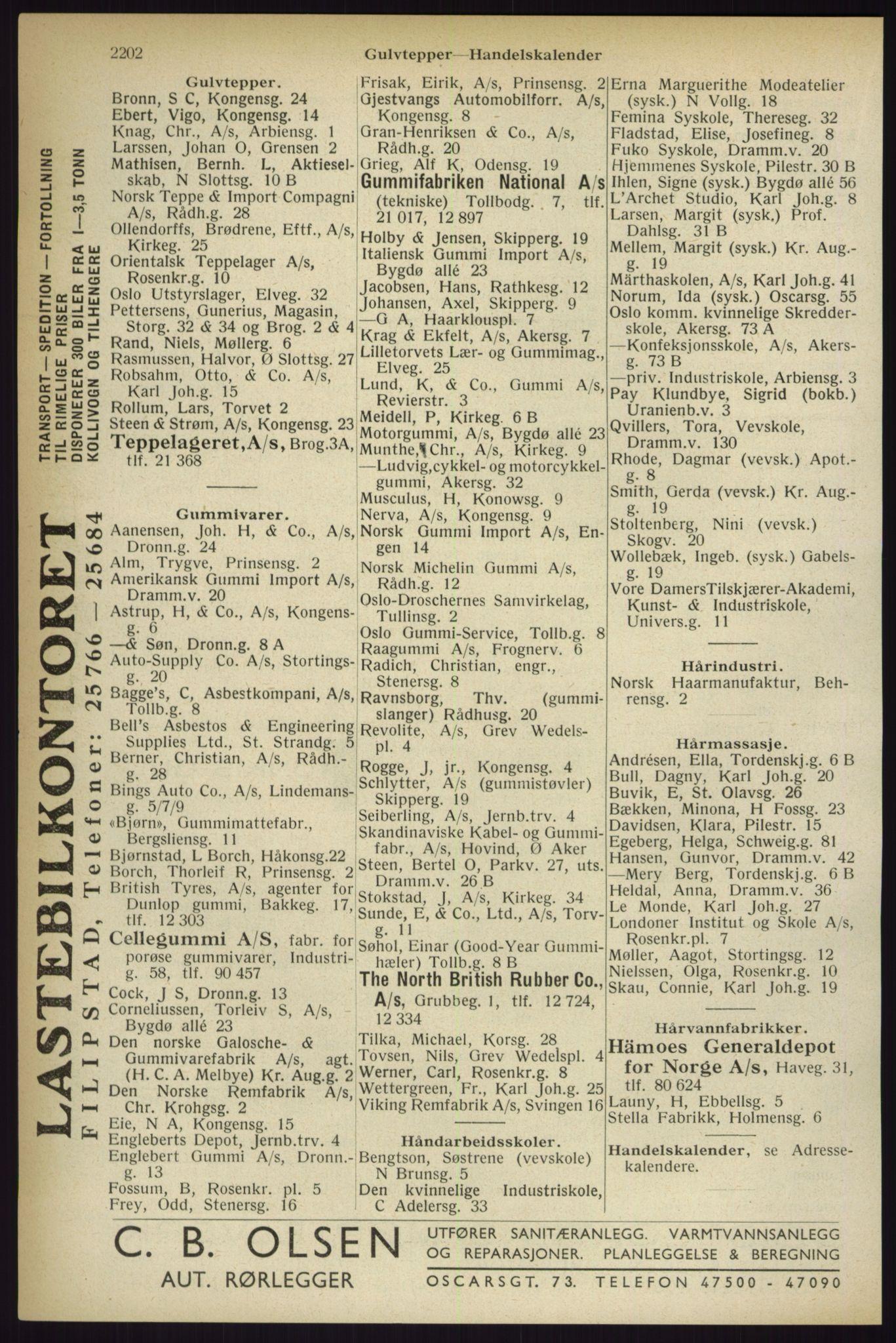 RA, Oslo adressebok (publikasjon)*, 1933, s. 2202