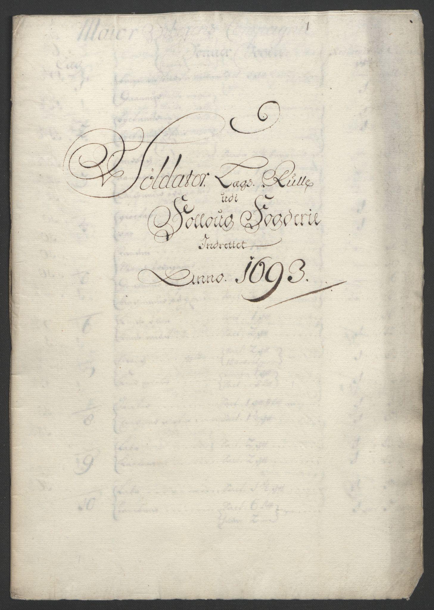 RA, Rentekammeret inntil 1814, Reviderte regnskaper, Fogderegnskap, R09/L0437: Fogderegnskap Follo, 1692-1693, s. 387