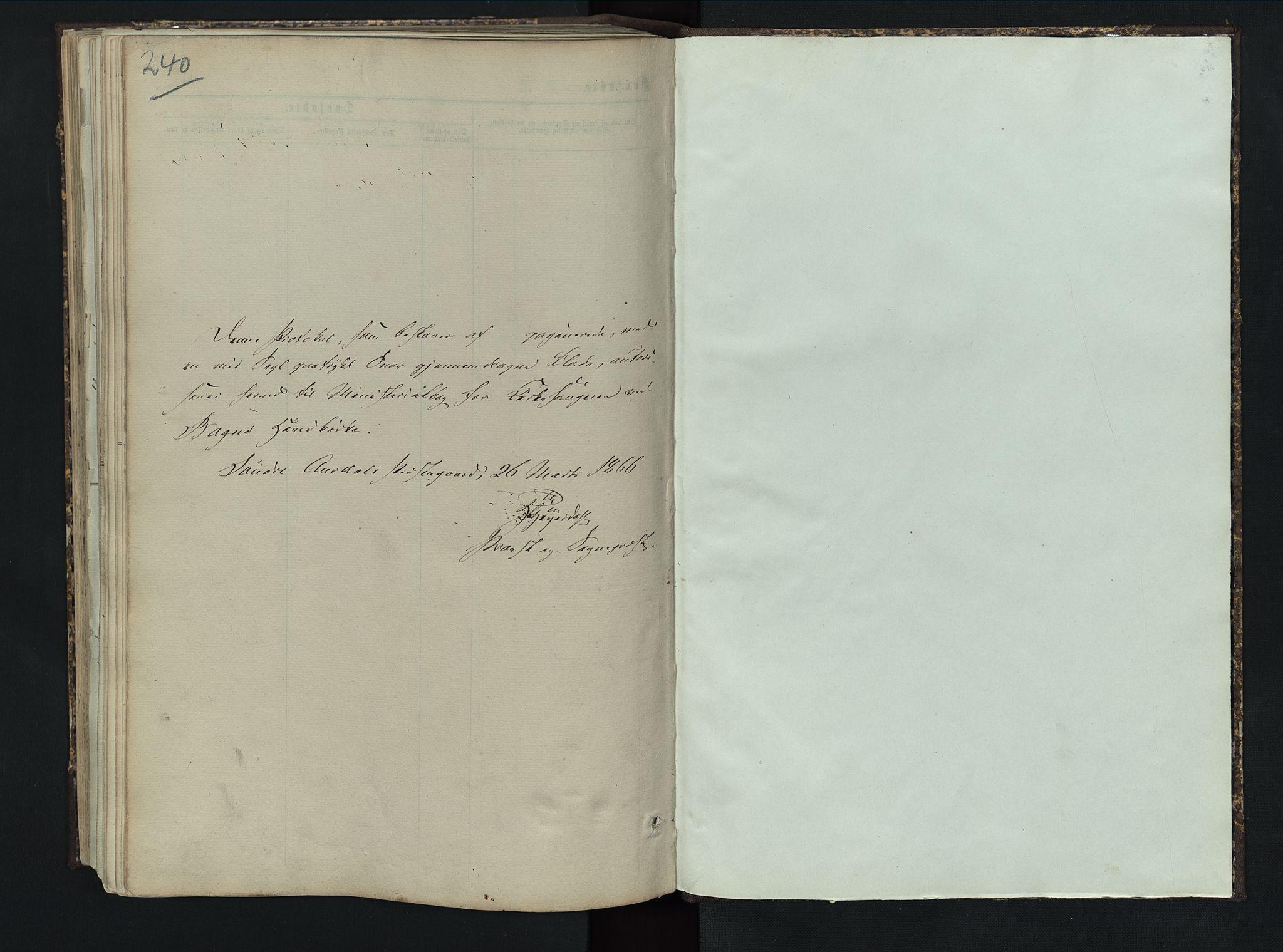 SAH, Sør-Aurdal prestekontor, Klokkerbok nr. 5, 1866-1893, s. 240