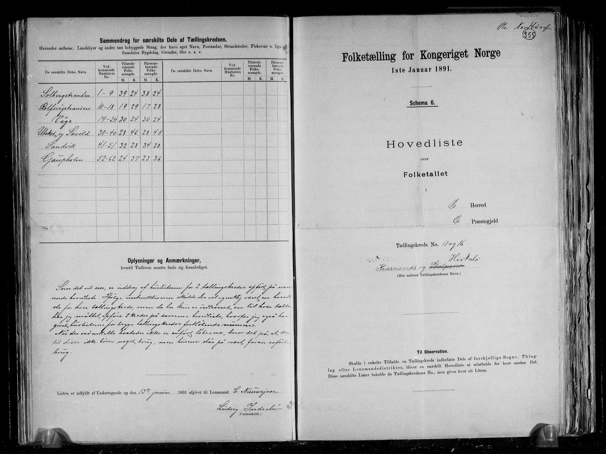 RA, Folketelling 1891 for 1243 Os herred, 1891, s. 24