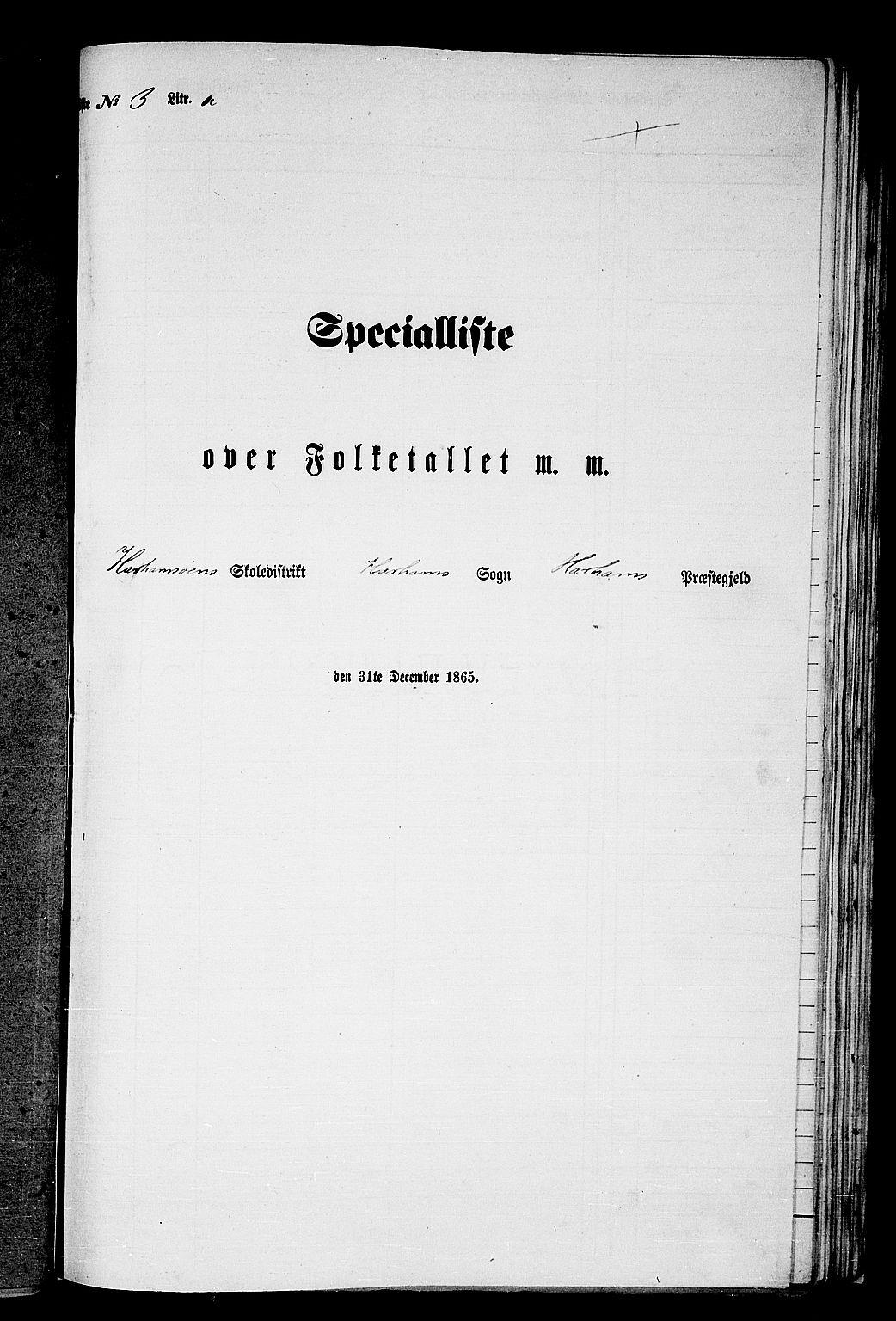 RA, Folketelling 1865 for 1534P Haram prestegjeld, 1865, s. 39