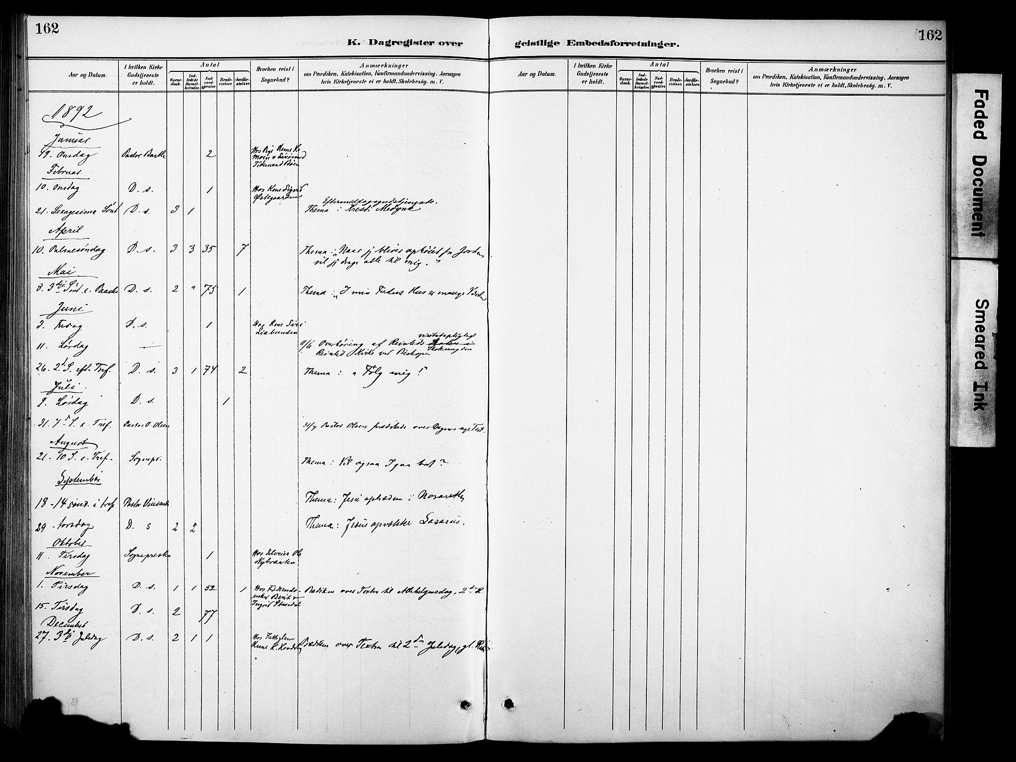 SAH, Sør-Aurdal prestekontor, Ministerialbok nr. 10, 1886-1906, s. 162