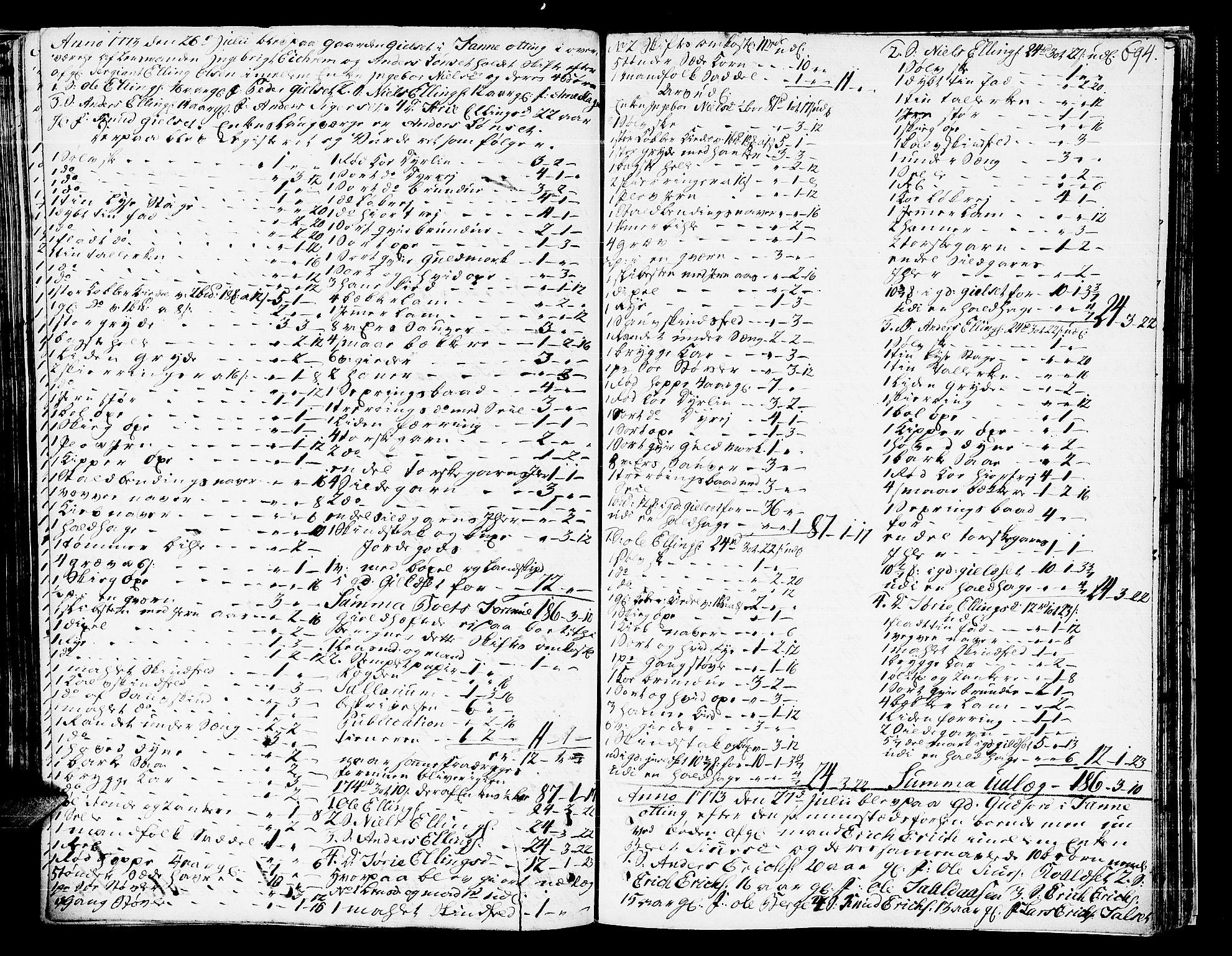 SAT, Romsdal sorenskriveri, 3/3A/L0009: Skifteprotokoll, 1761-1773, s. 693b-694a
