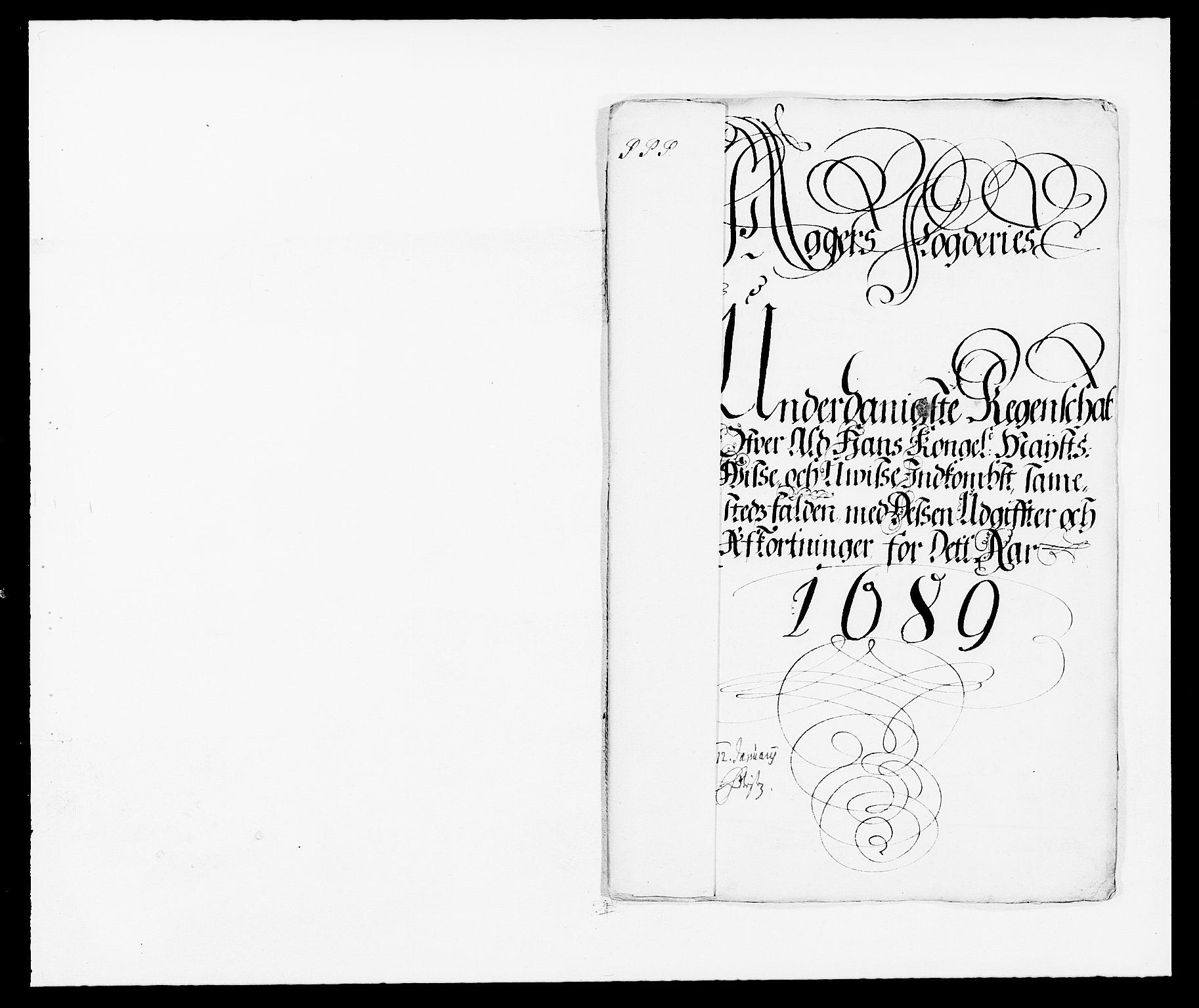 RA, Rentekammeret inntil 1814, Reviderte regnskaper, Fogderegnskap, R08/L0423: Fogderegnskap Aker, 1687-1689, s. 2