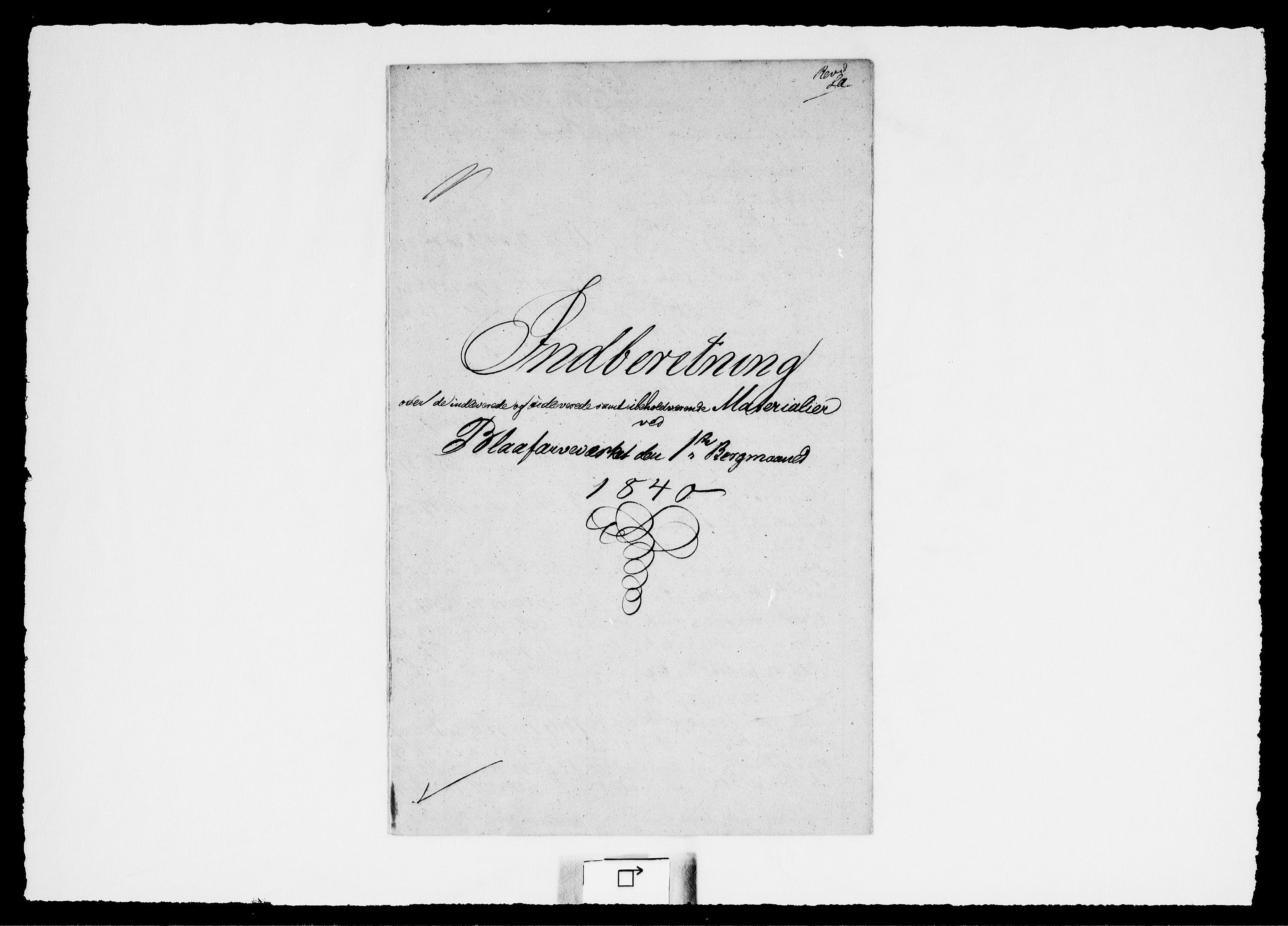 RA, Modums Blaafarveværk, G/Gd/Gdd/L0249, 1840-1849, s. 2