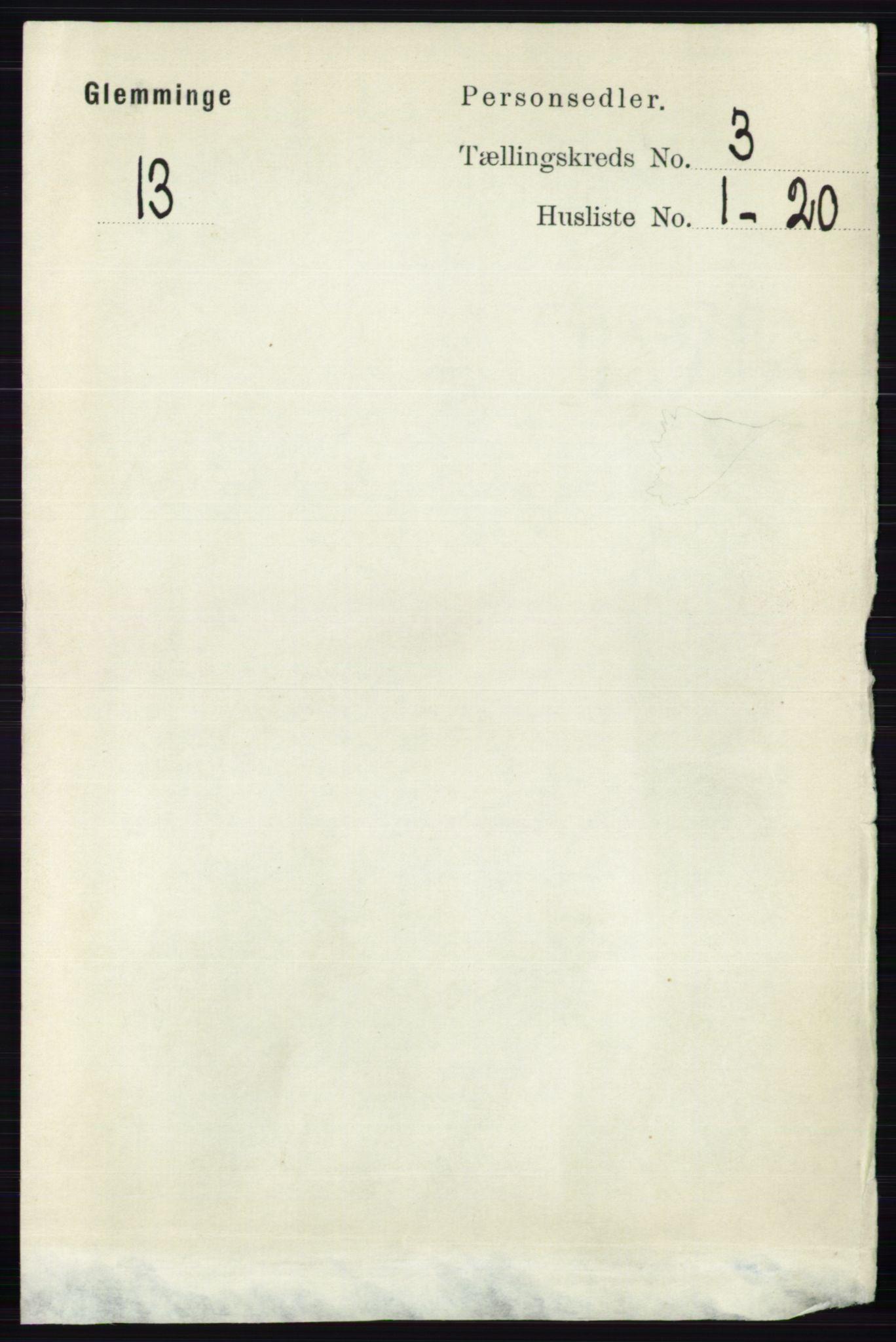RA, Folketelling 1891 for 0132 Glemmen herred, 1891, s. 1941