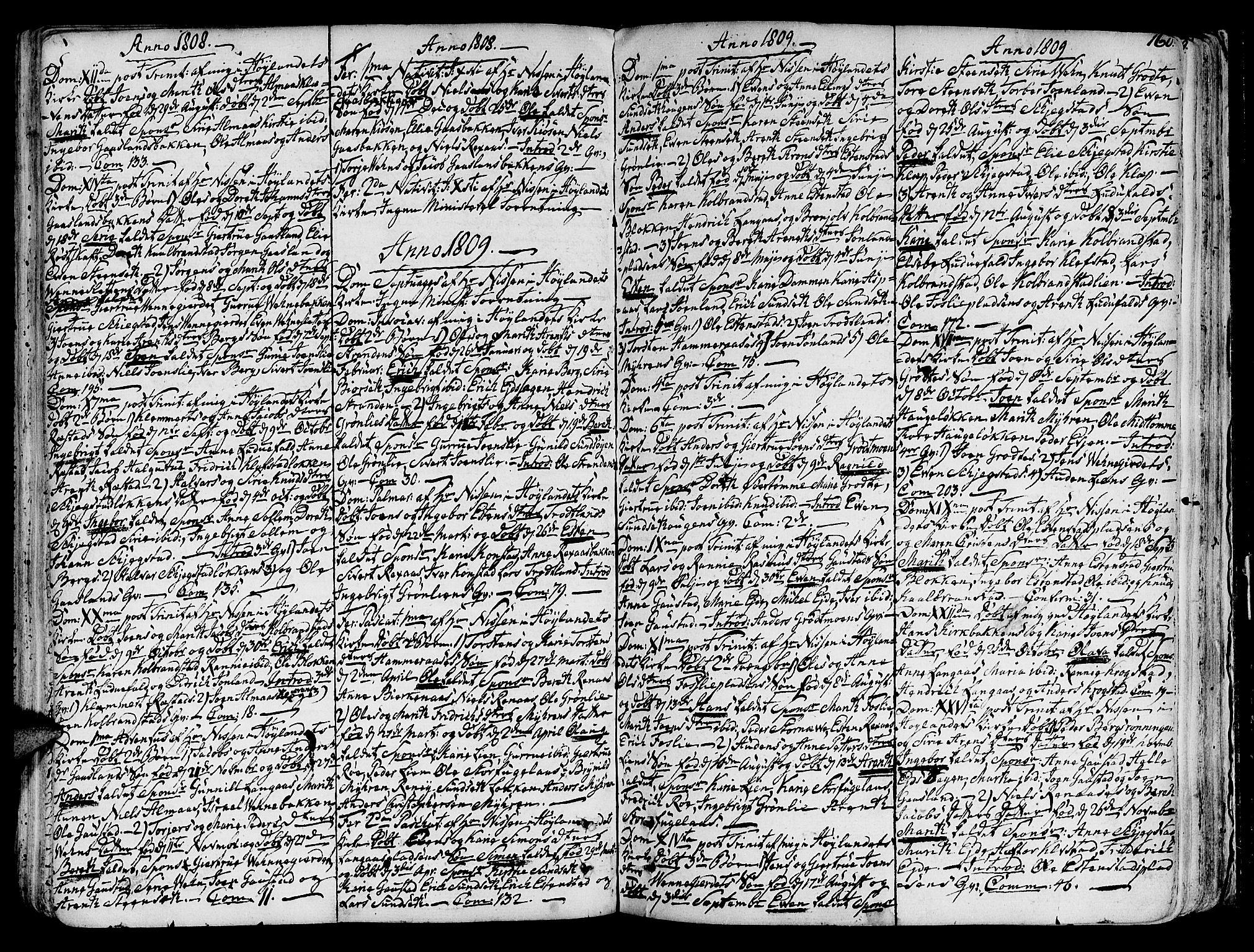 SAT, Ministerialprotokoller, klokkerbøker og fødselsregistre - Sør-Trøndelag, 691/L1064: Ministerialbok nr. 691A02 /4, 1768-1815, s. 160