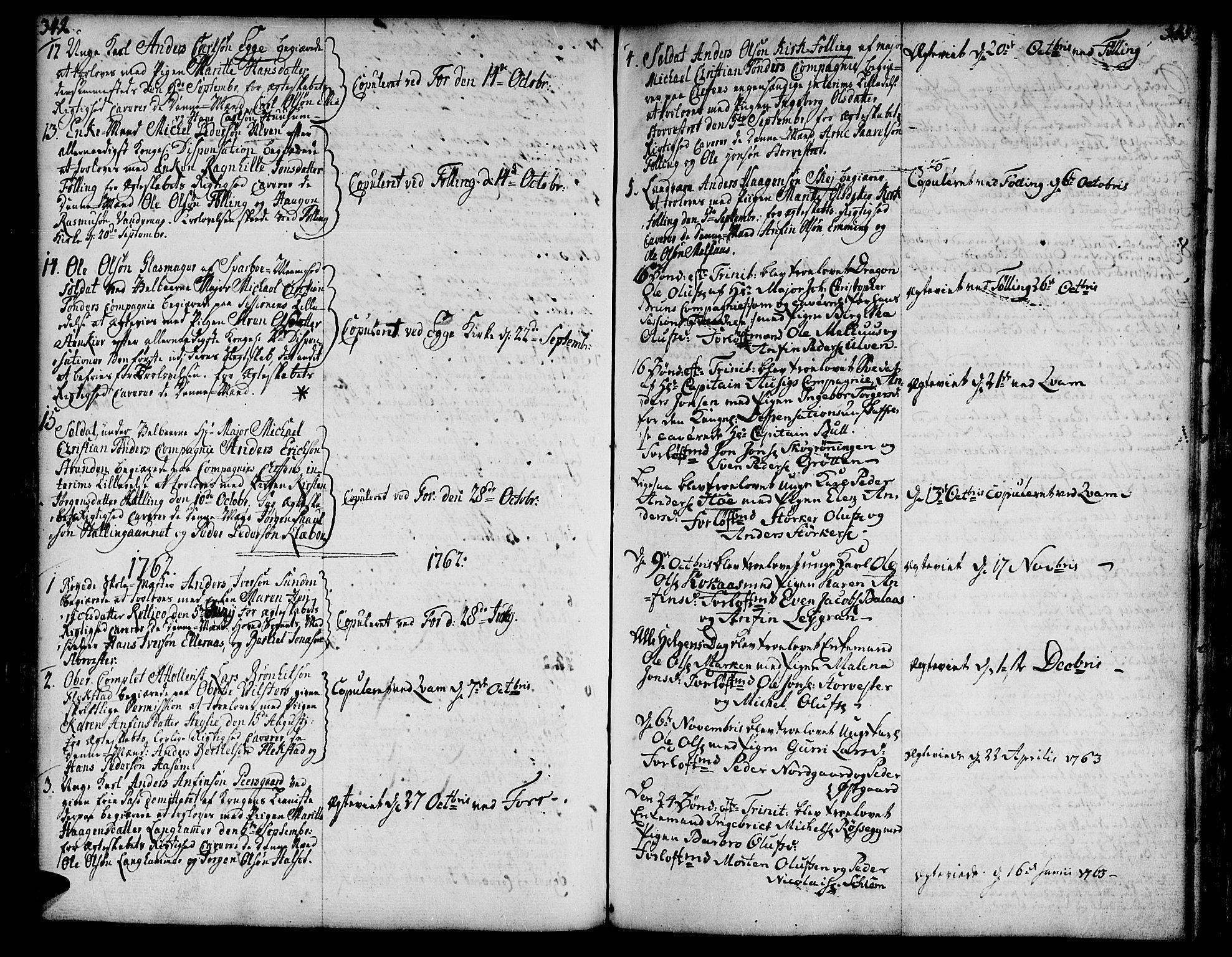 SAT, Ministerialprotokoller, klokkerbøker og fødselsregistre - Nord-Trøndelag, 746/L0440: Ministerialbok nr. 746A02, 1760-1815, s. 342-343