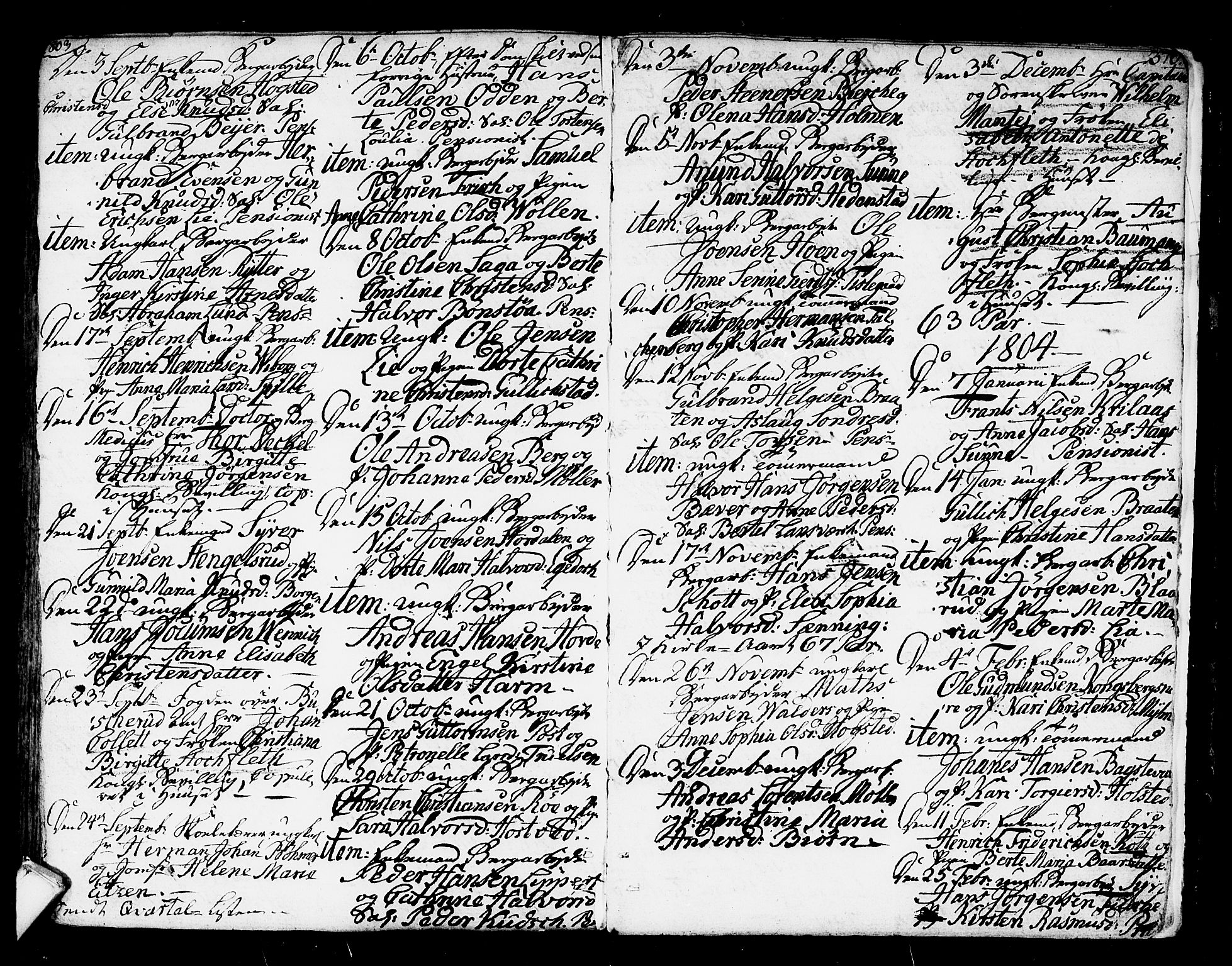 SAKO, Kongsberg kirkebøker, F/Fa/L0007: Ministerialbok nr. I 7, 1795-1816, s. 370