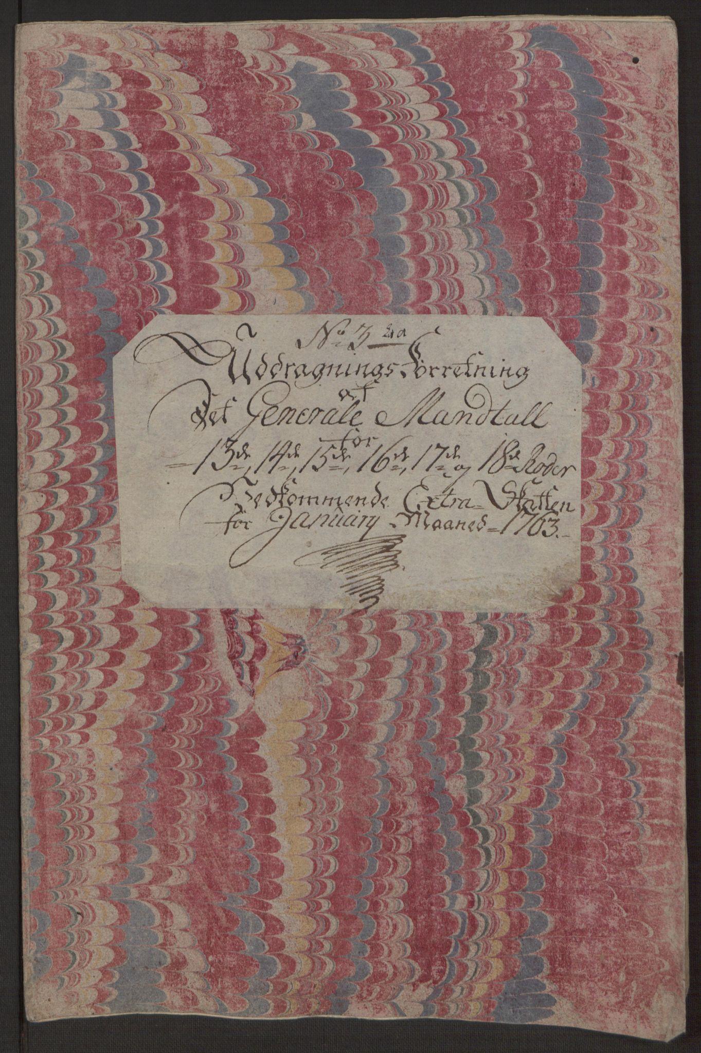 RA, Rentekammeret inntil 1814, Reviderte regnskaper, Byregnskaper, R/Rp/L0366: [P20] Kontribusjonsregnskap, 1763, s. 177