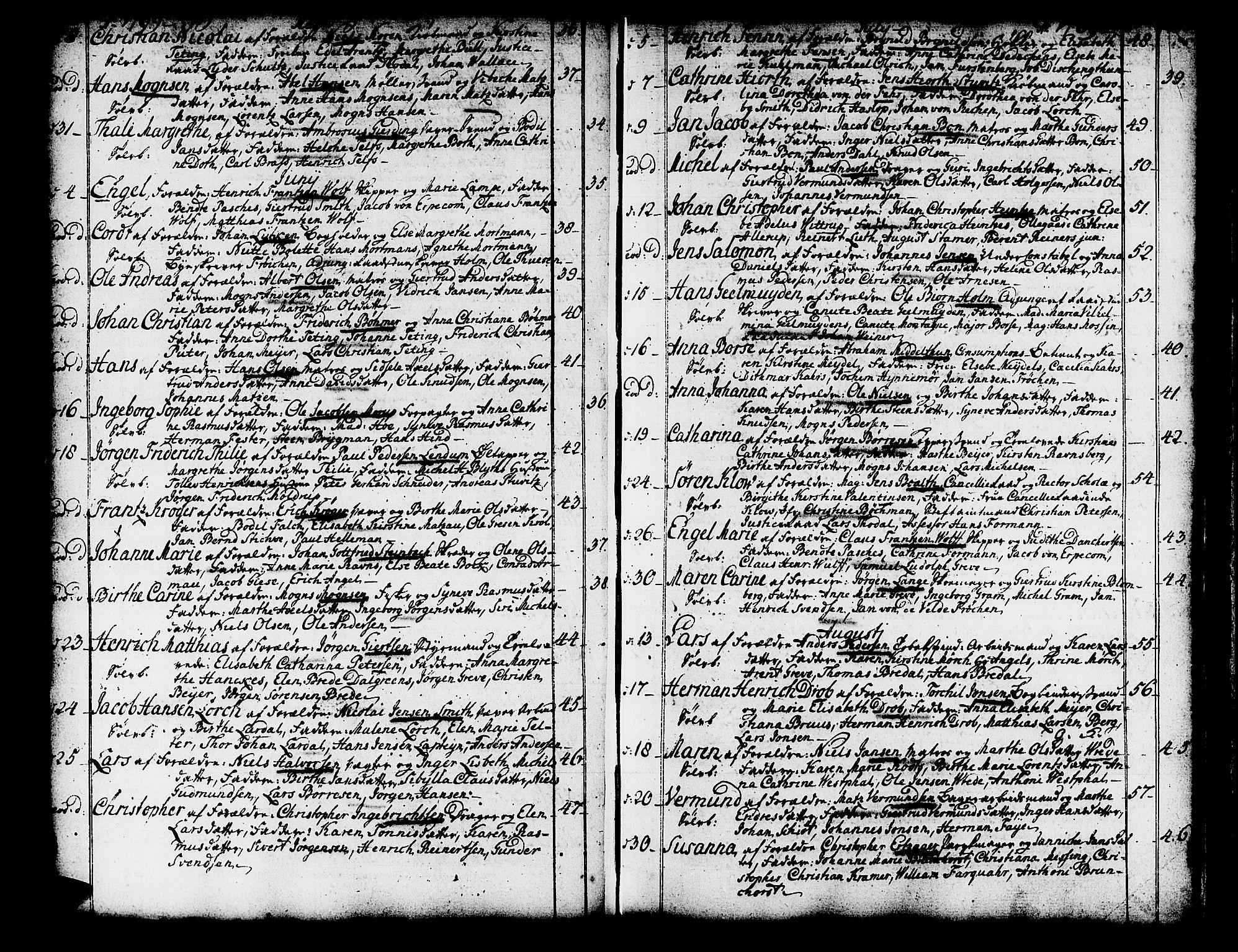 SAB, Domkirken sokneprestembete, H/Haa/L0003: Ministerialbok nr. A 3, 1758-1789, s. 134-135