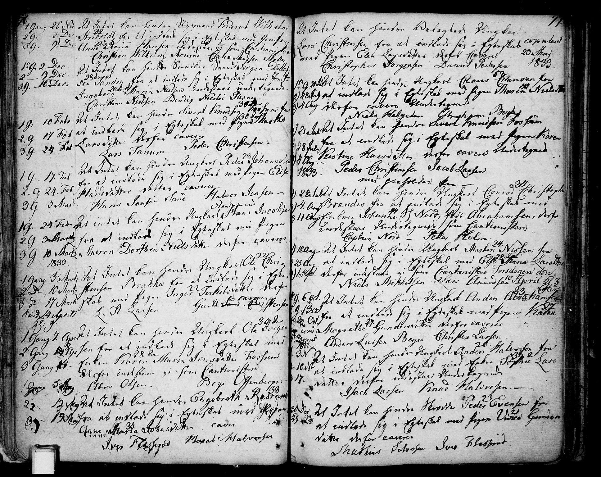 SAKO, Skien kirkebøker, F/Fa/L0004: Ministerialbok nr. 4, 1792-1814, s. 76-77