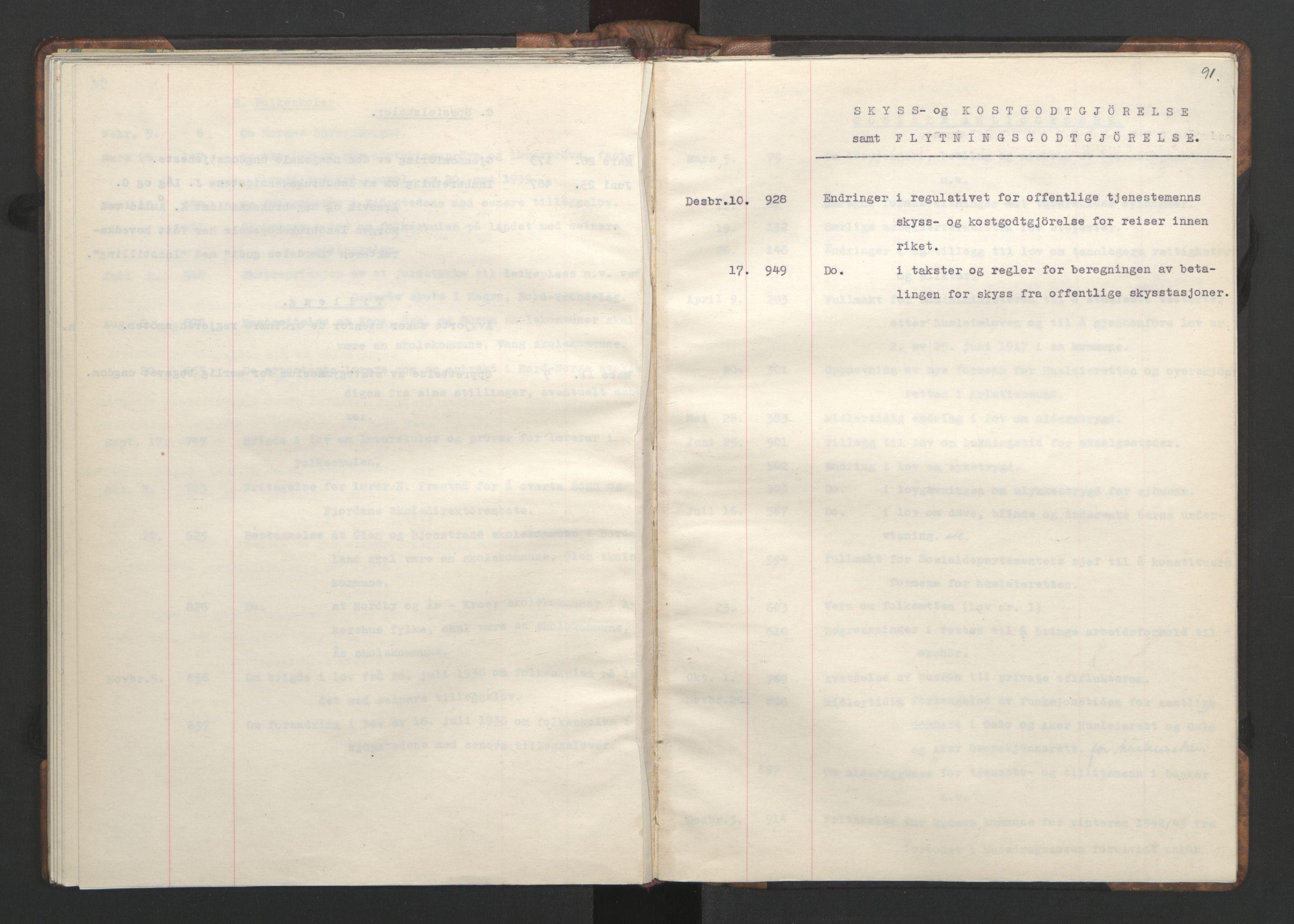 RA, NS-administrasjonen 1940-1945 (Statsrådsekretariatet, de kommisariske statsråder mm), D/Da/L0002: Register (RA j.nr. 985/1943, tilgangsnr. 17/1943), 1942, s. 90b-91a