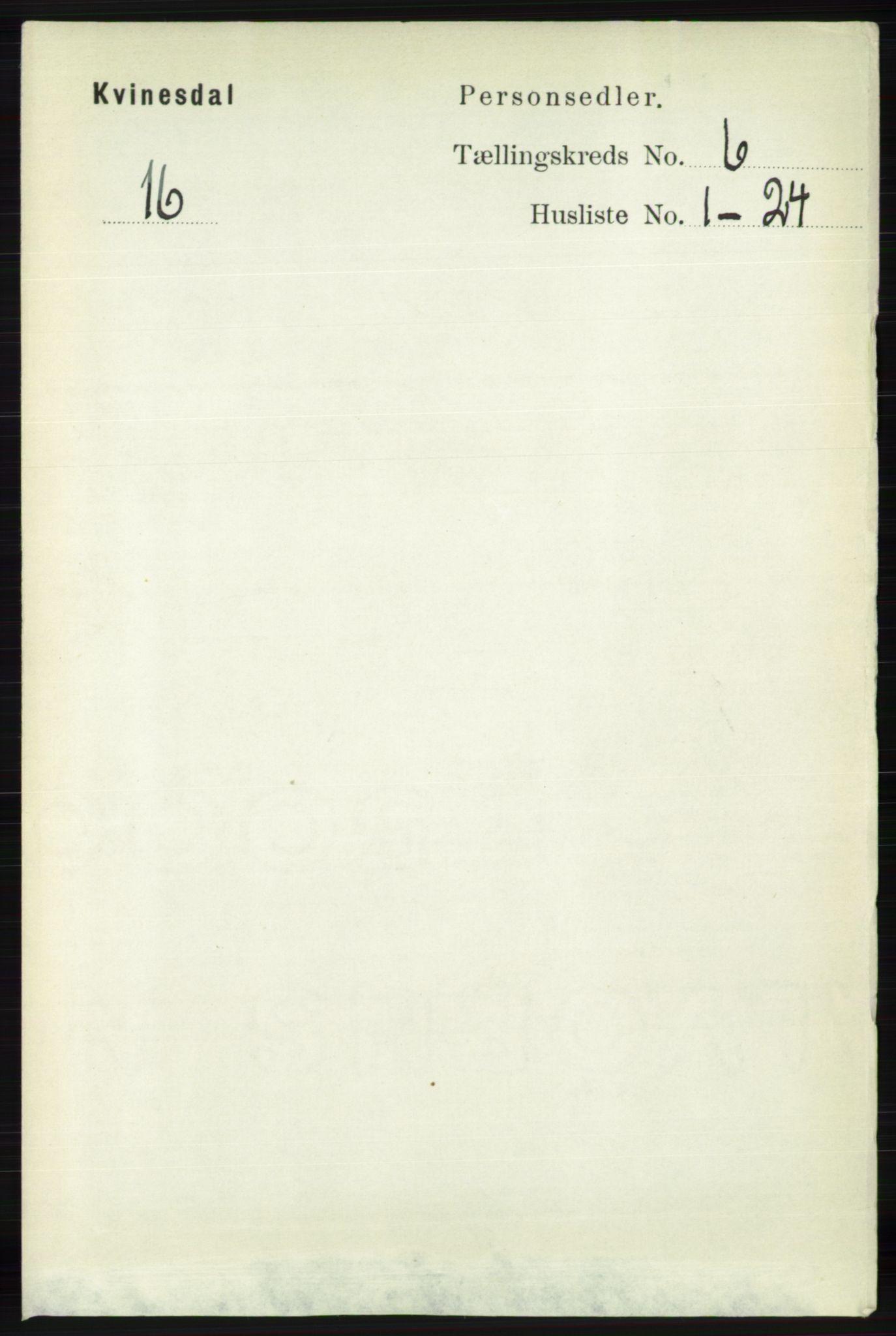 RA, Folketelling 1891 for 1037 Kvinesdal herred, 1891, s. 2102