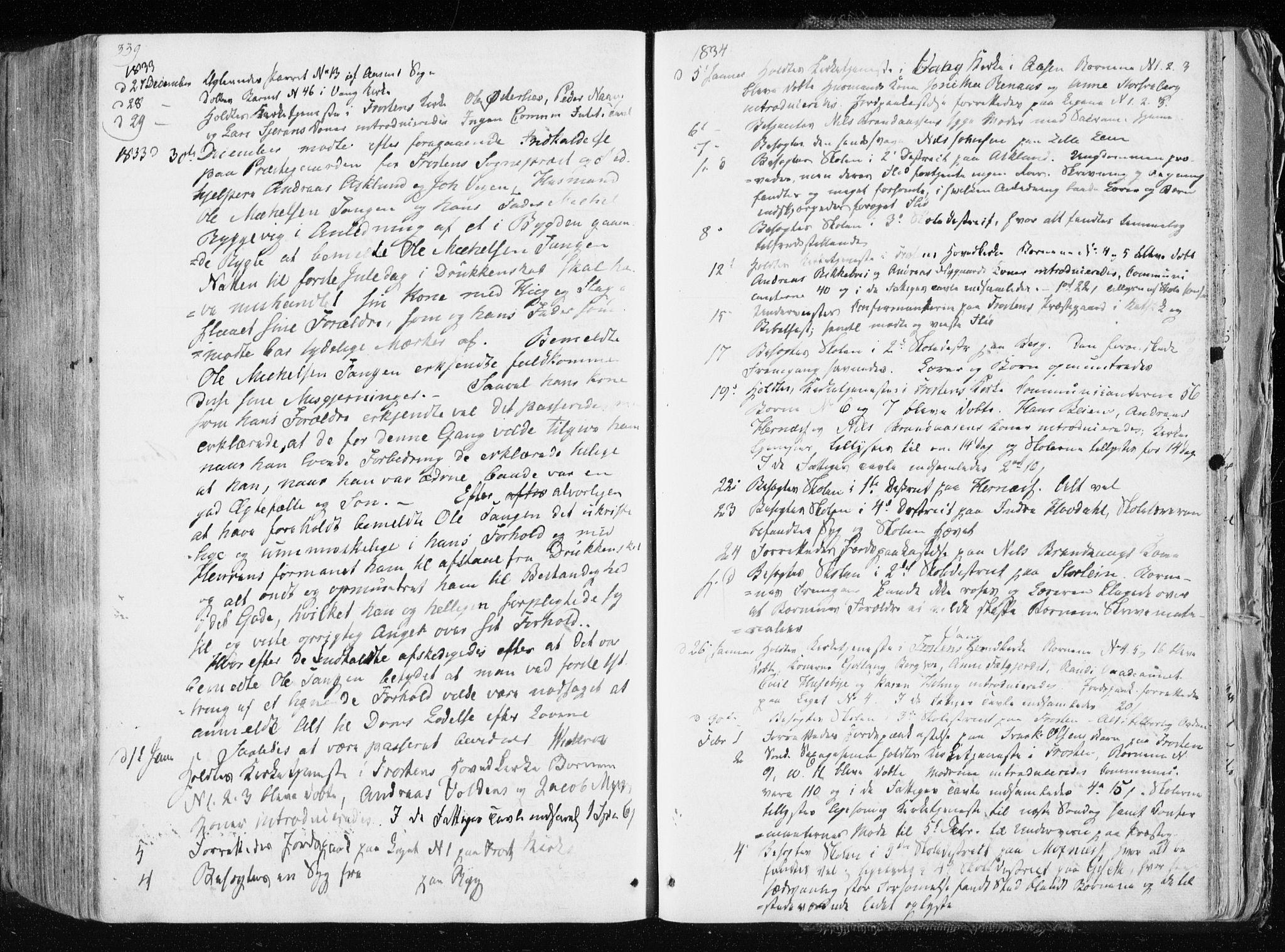 SAT, Ministerialprotokoller, klokkerbøker og fødselsregistre - Nord-Trøndelag, 713/L0114: Ministerialbok nr. 713A05, 1827-1839, s. 339