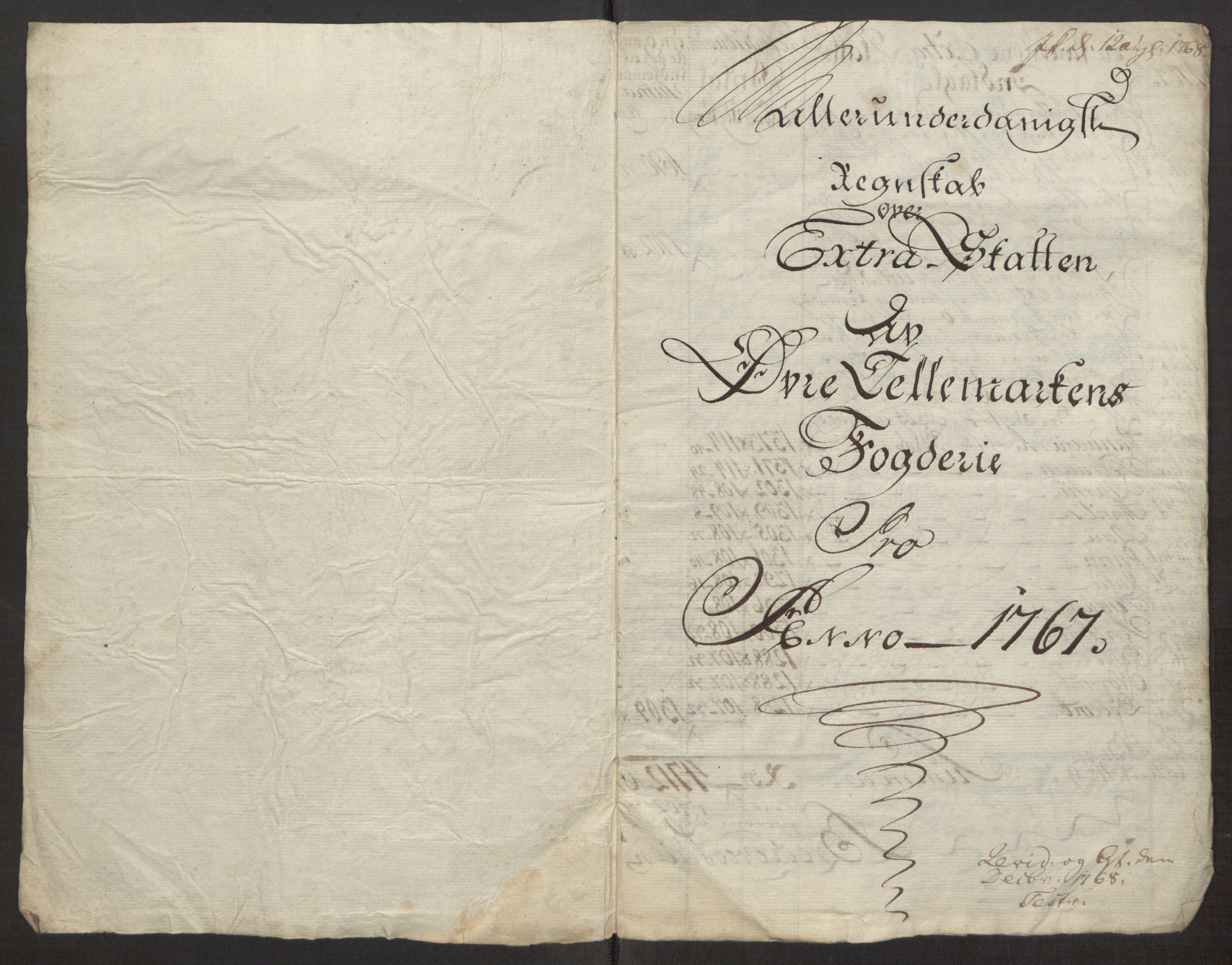 RA, Rentekammeret inntil 1814, Reviderte regnskaper, Fogderegnskap, R38/L2293: Ekstraskatten Øvre Telemark, 1762-1770, s. 87