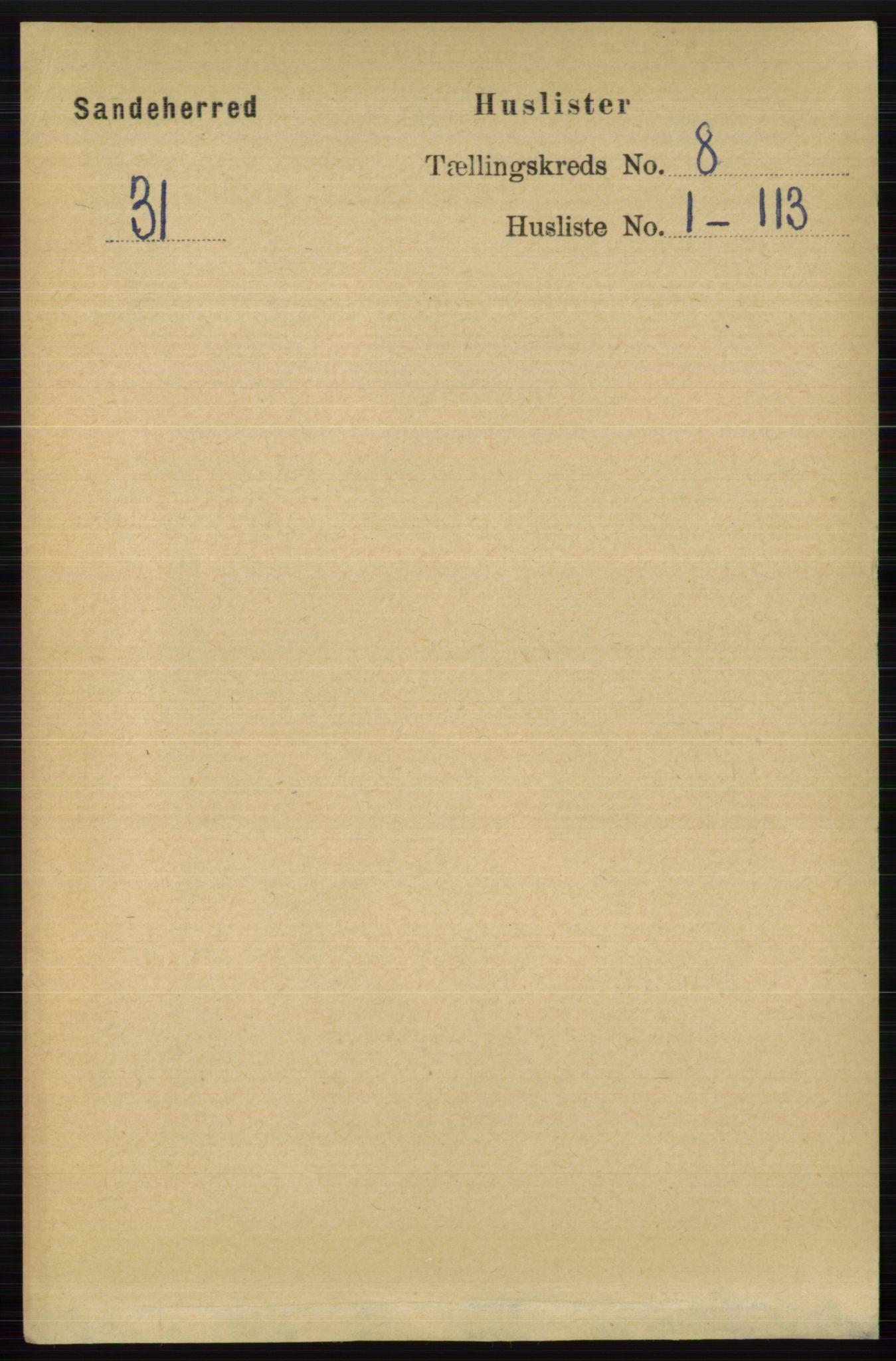 RA, Folketelling 1891 for 0724 Sandeherred herred, 1891, s. 4712