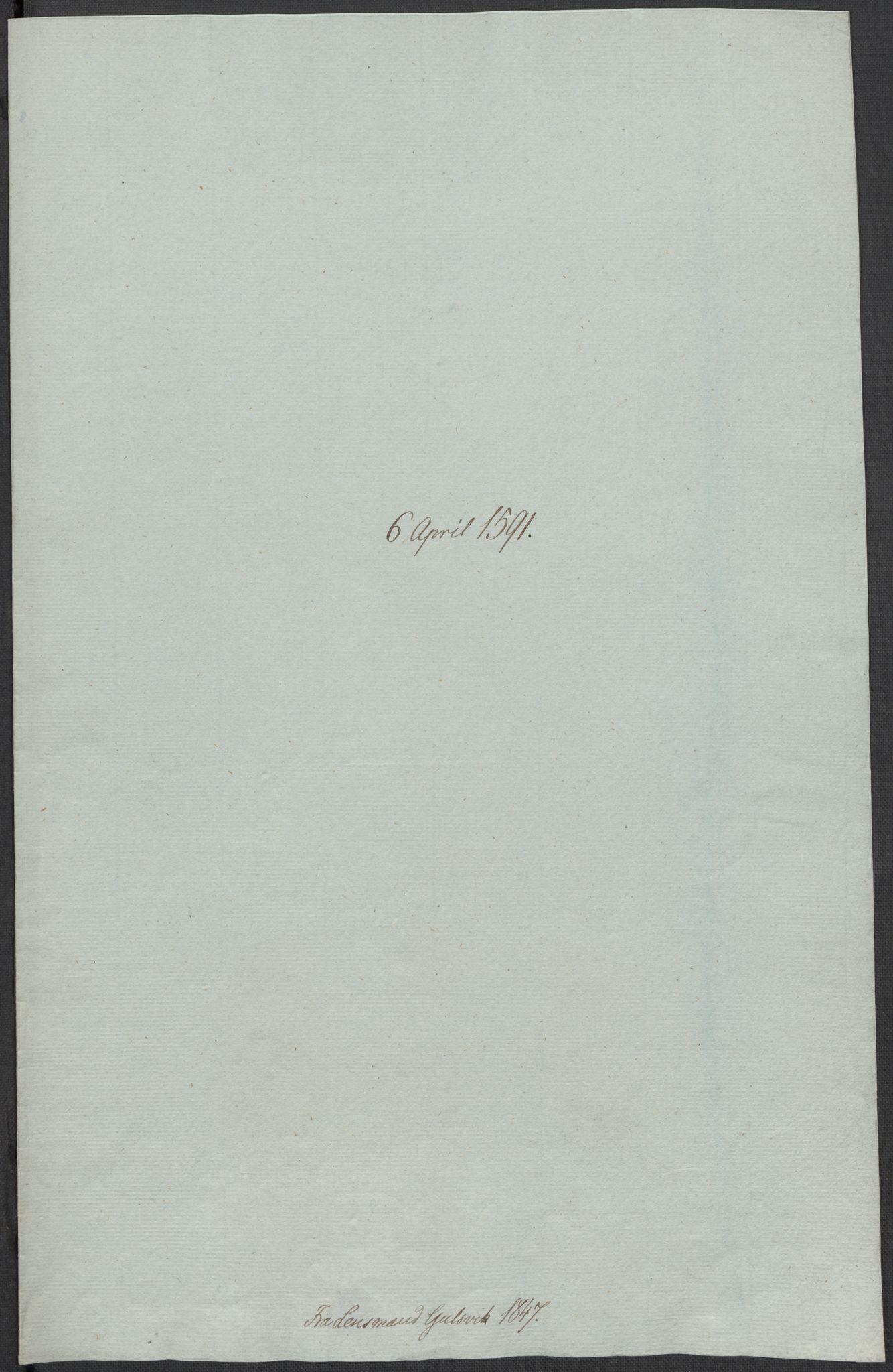 RA, Riksarkivets diplomsamling, F02/L0093: Dokumenter, 1591, s. 64