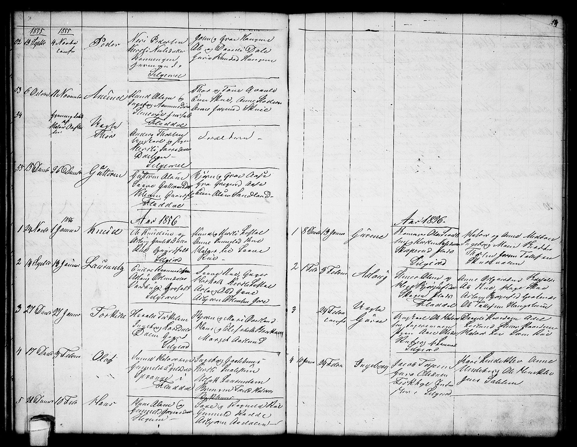 SAKO, Seljord kirkebøker, G/Ga/L0002: Klokkerbok nr. I 2, 1838-1866, s. 53