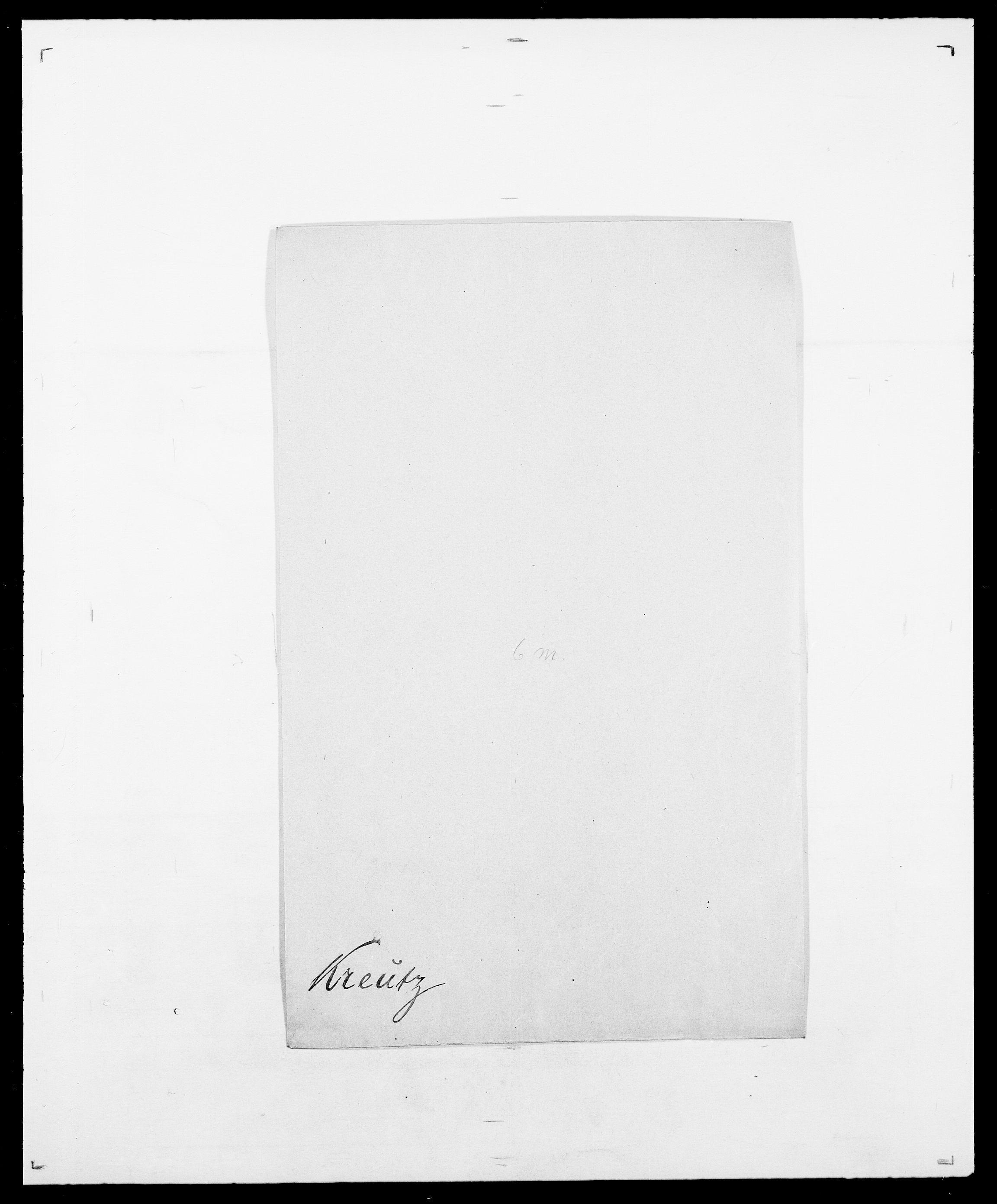 SAO, Delgobe, Charles Antoine - samling, D/Da/L0021: Klagenberg - Kristoft, s. 781