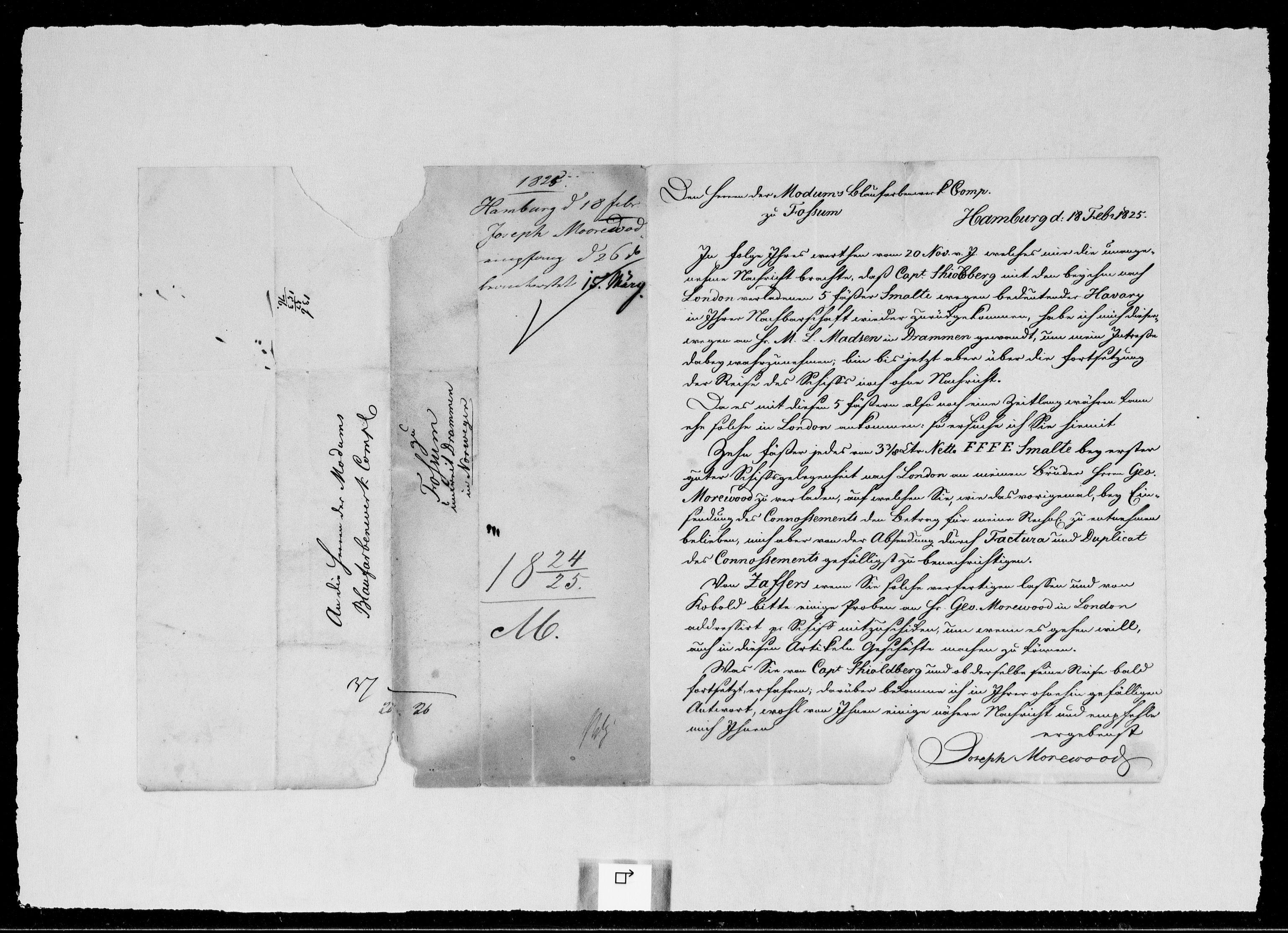 RA, Modums Blaafarveværk, G/Gb/L0094, 1824-1825, s. 2