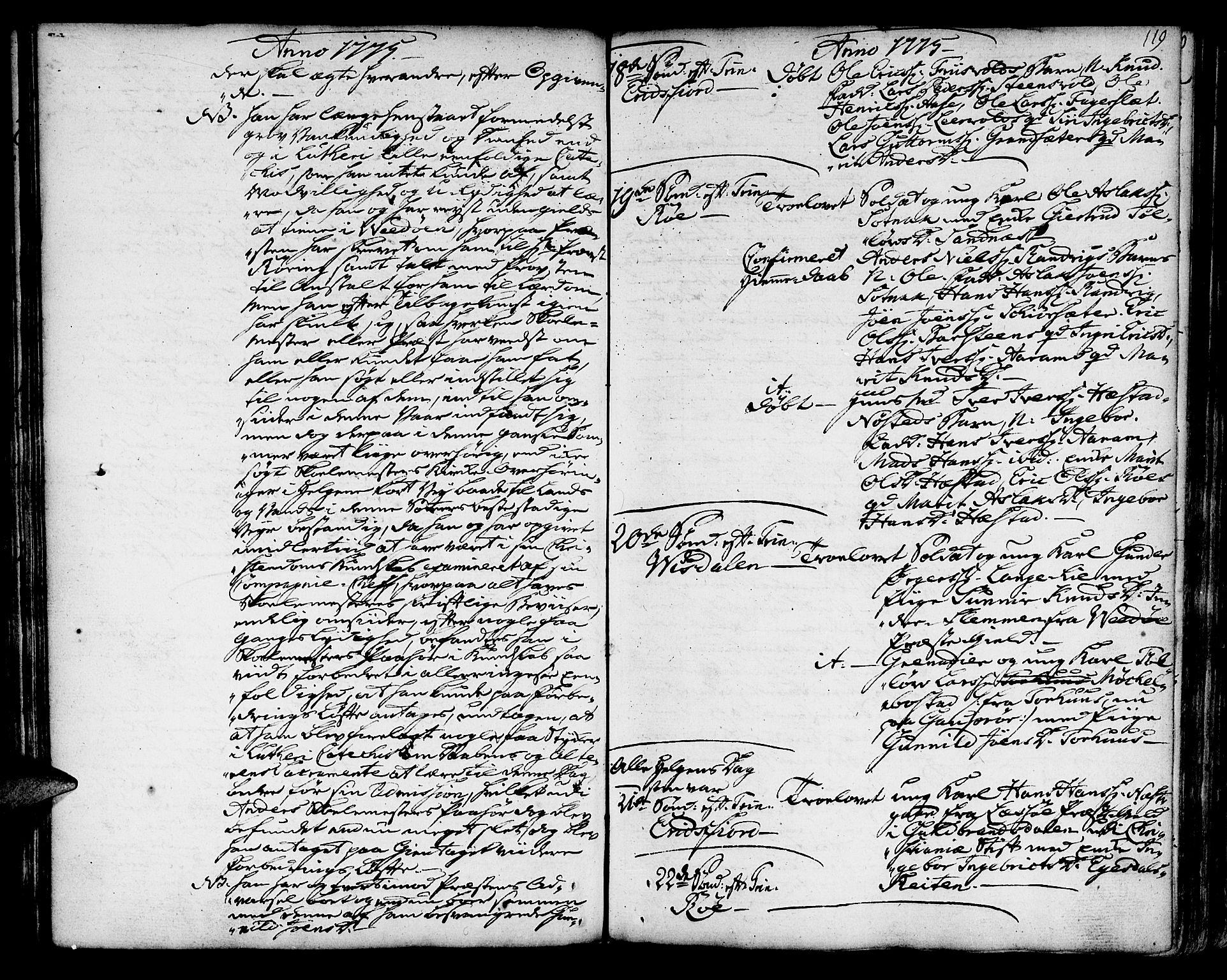 SAT, Ministerialprotokoller, klokkerbøker og fødselsregistre - Møre og Romsdal, 551/L0621: Ministerialbok nr. 551A01, 1757-1803, s. 119