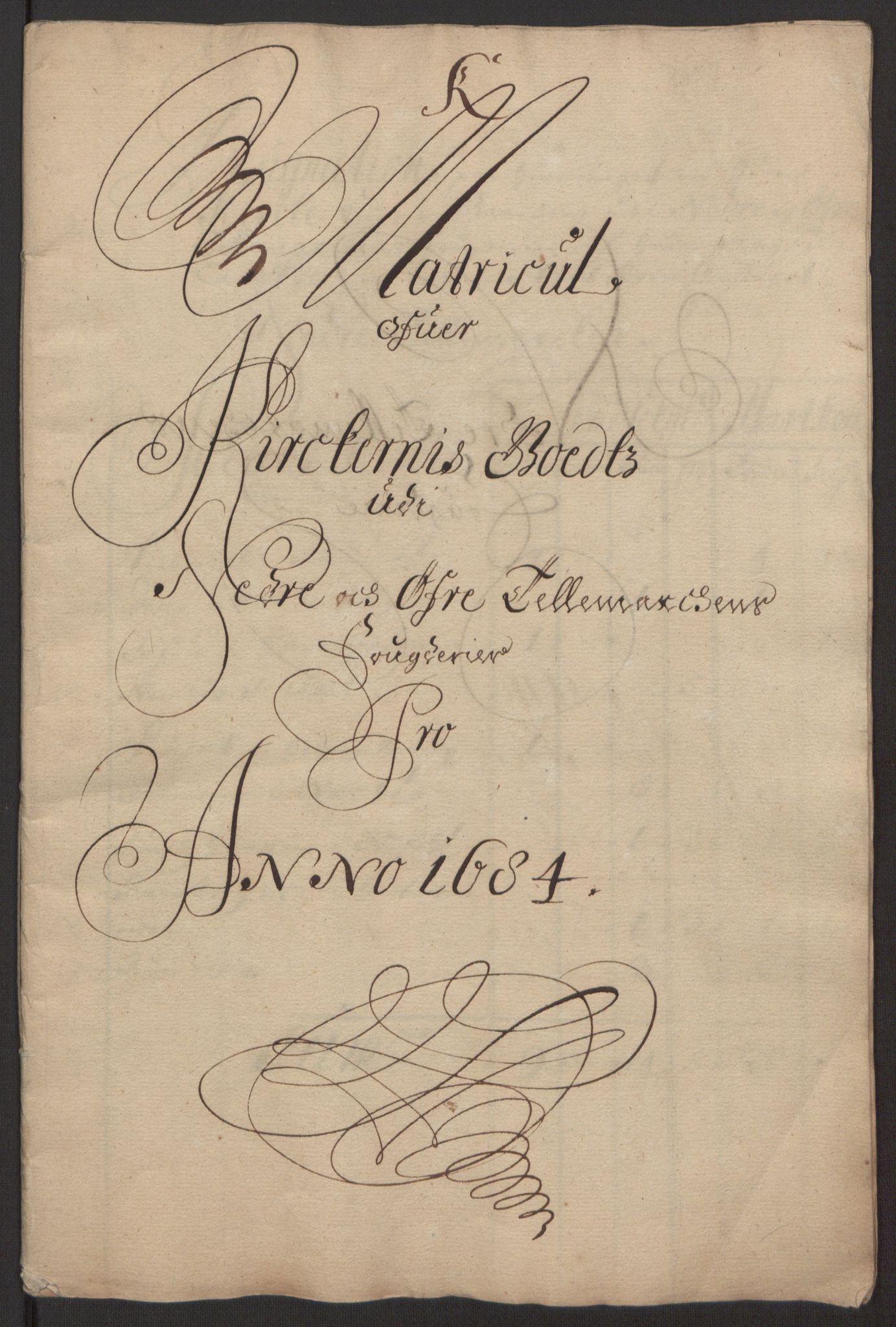 RA, Rentekammeret inntil 1814, Reviderte regnskaper, Fogderegnskap, R35/L2081: Fogderegnskap Øvre og Nedre Telemark, 1680-1684, s. 170
