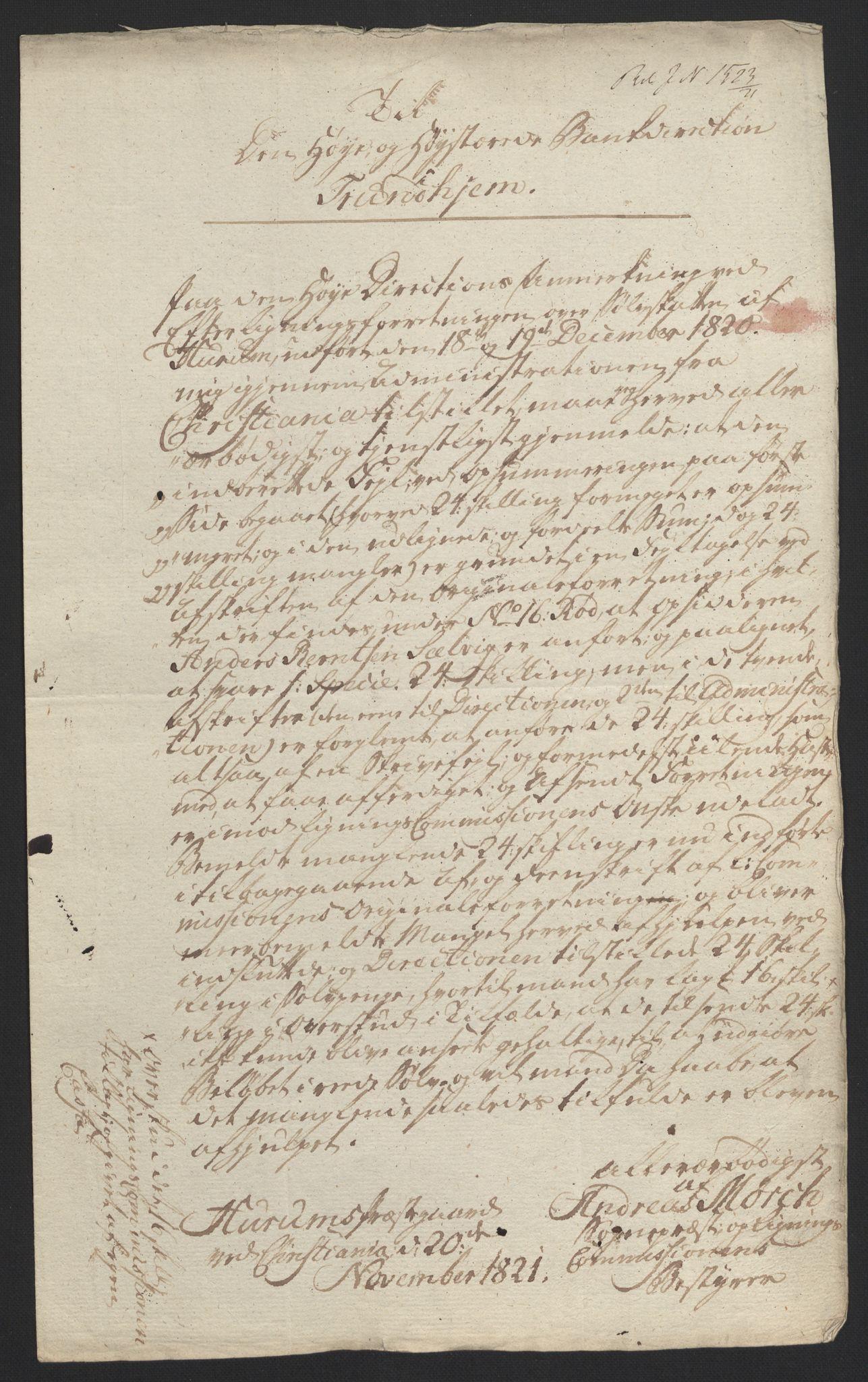 NOBA, Norges Bank/Sølvskatten 1816*, 1816-1822, s. 10
