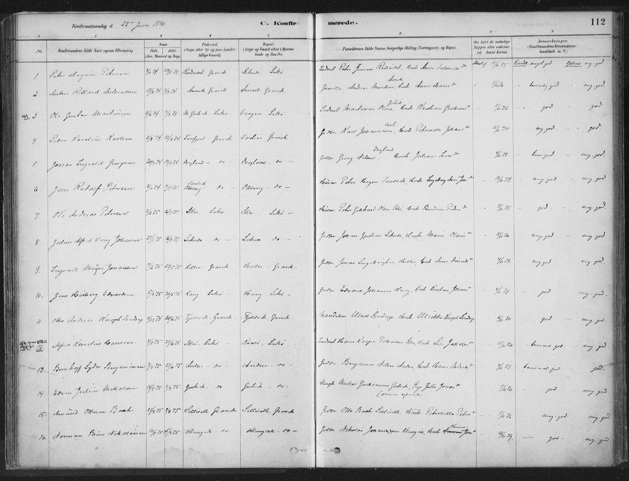 SAT, Ministerialprotokoller, klokkerbøker og fødselsregistre - Nord-Trøndelag, 788/L0697: Ministerialbok nr. 788A04, 1878-1902, s. 112