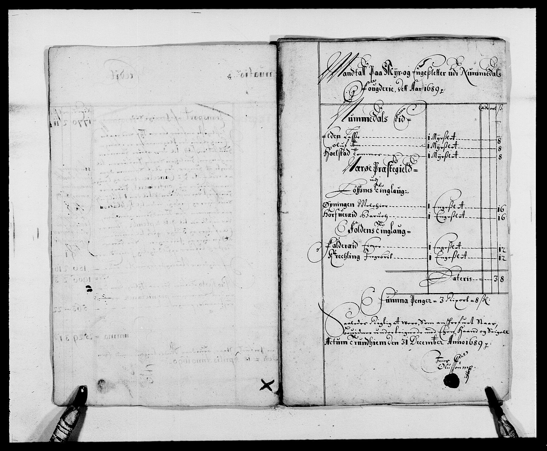 RA, Rentekammeret inntil 1814, Reviderte regnskaper, Fogderegnskap, R64/L4422: Fogderegnskap Namdal, 1687-1689, s. 207