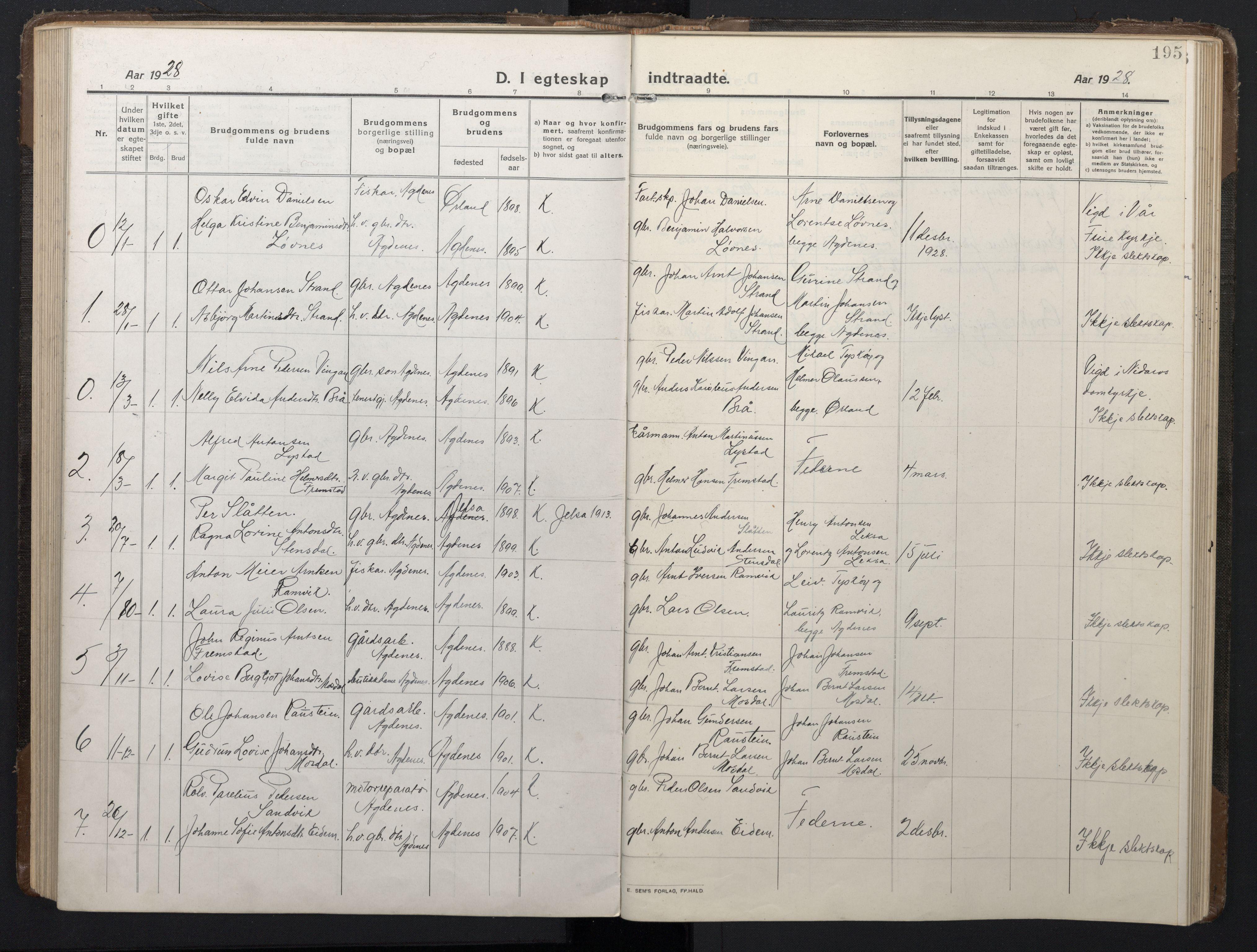SAT, Ministerialprotokoller, klokkerbøker og fødselsregistre - Sør-Trøndelag, 662/L0758: Klokkerbok nr. 662C03, 1918-1948, s. 195