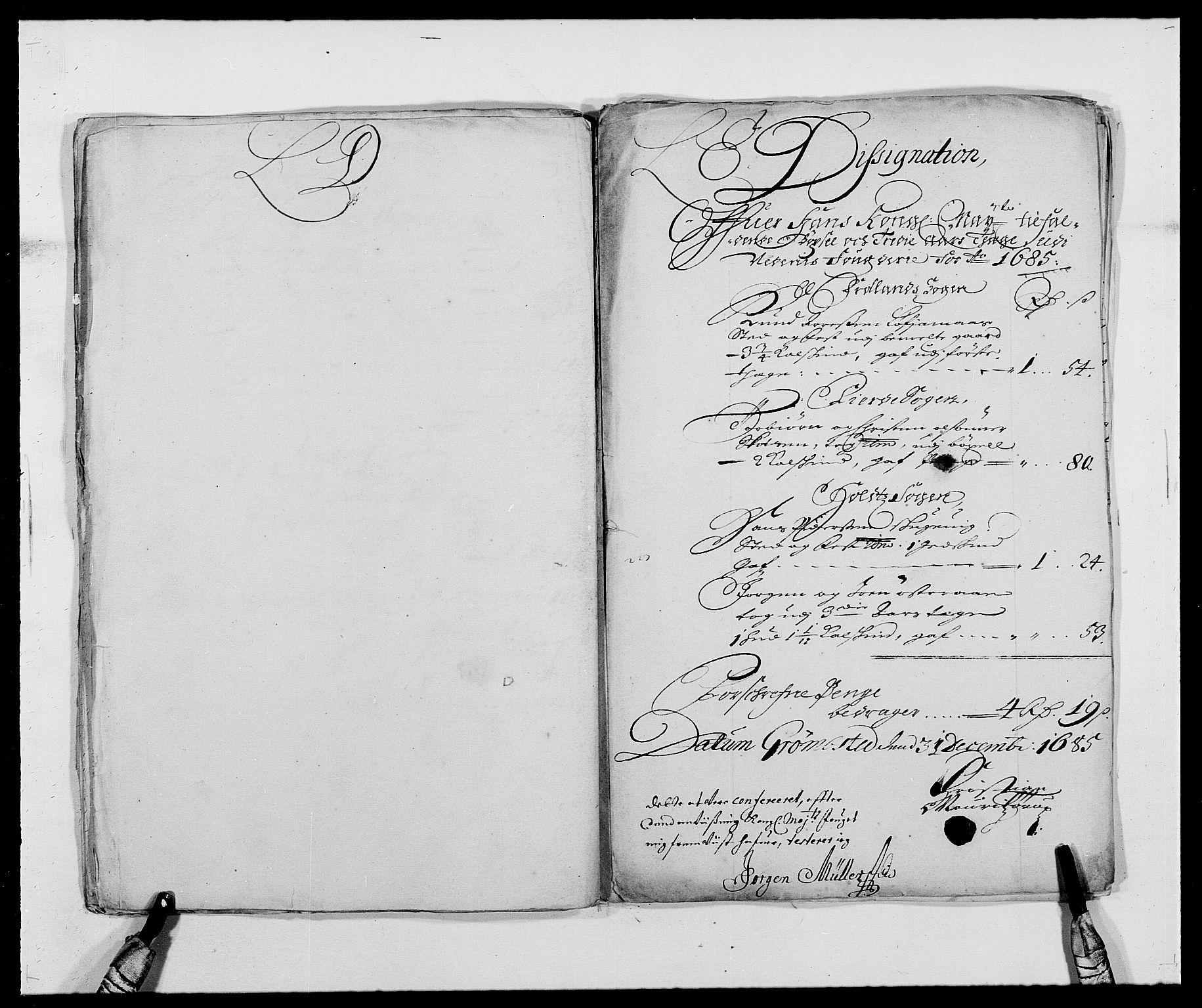 RA, Rentekammeret inntil 1814, Reviderte regnskaper, Fogderegnskap, R39/L2308: Fogderegnskap Nedenes, 1684-1689, s. 202