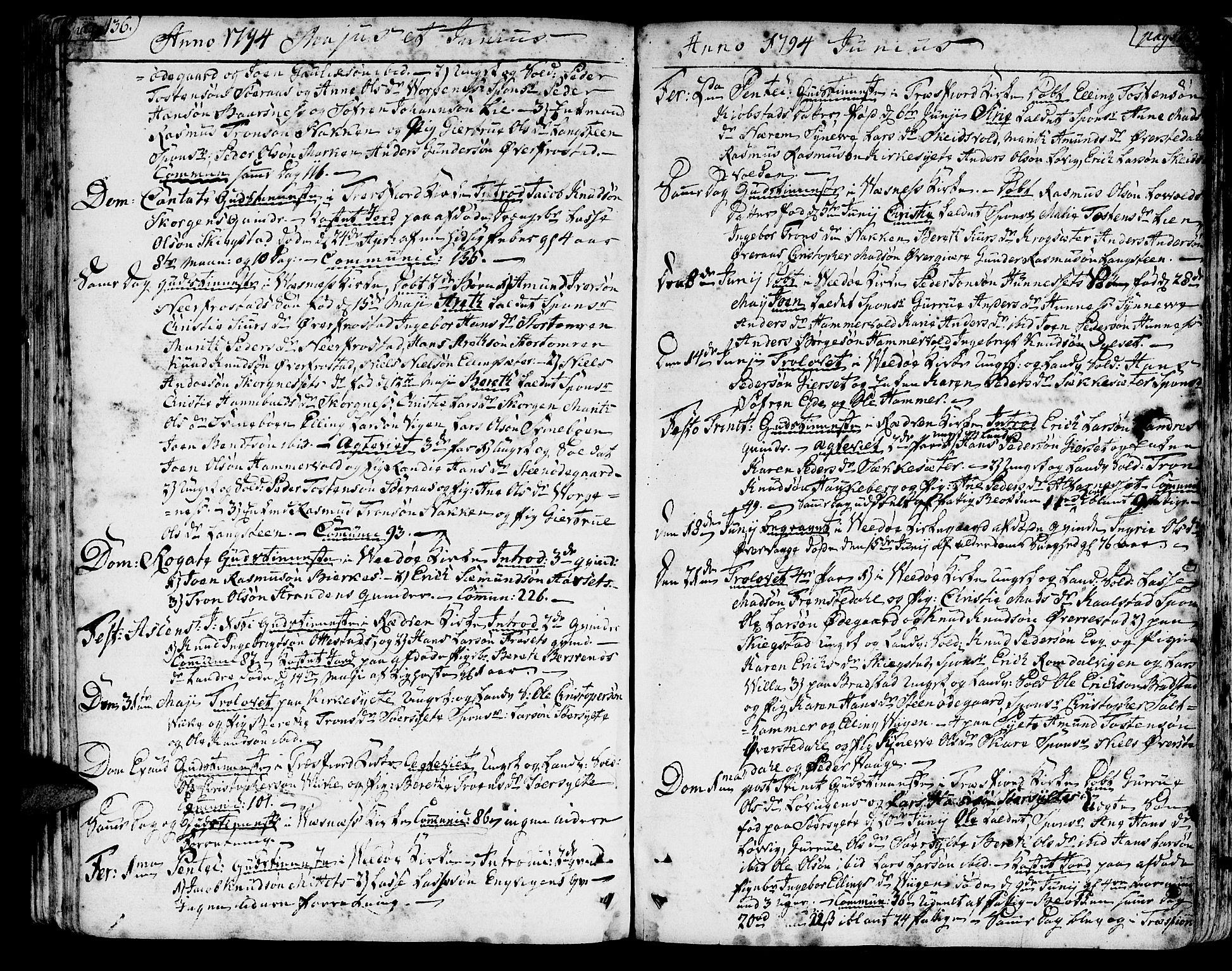 SAT, Ministerialprotokoller, klokkerbøker og fødselsregistre - Møre og Romsdal, 547/L0600: Ministerialbok nr. 547A02, 1765-1799, s. 436-437