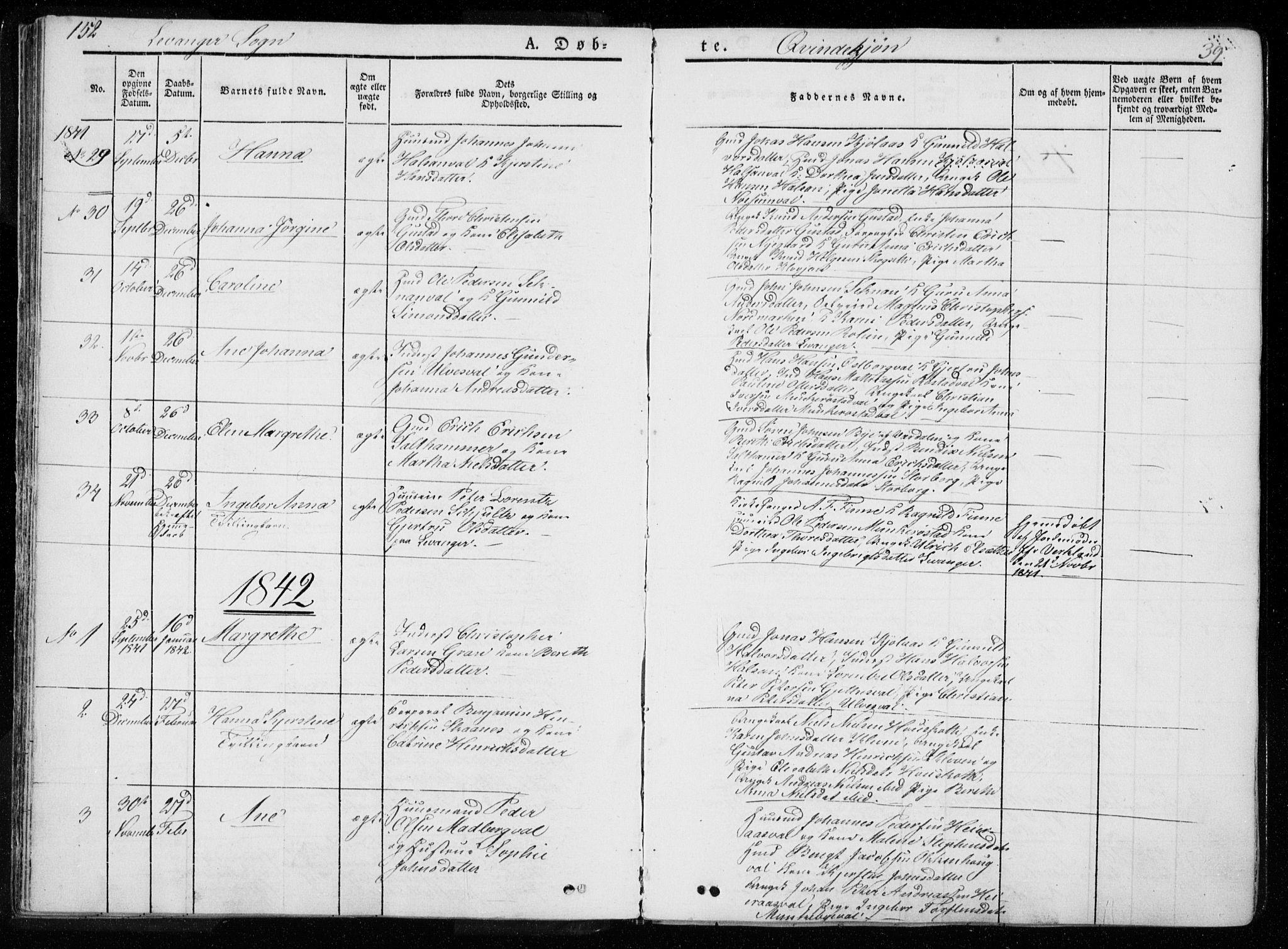 SAT, Ministerialprotokoller, klokkerbøker og fødselsregistre - Nord-Trøndelag, 720/L0183: Ministerialbok nr. 720A01, 1836-1855, s. 39