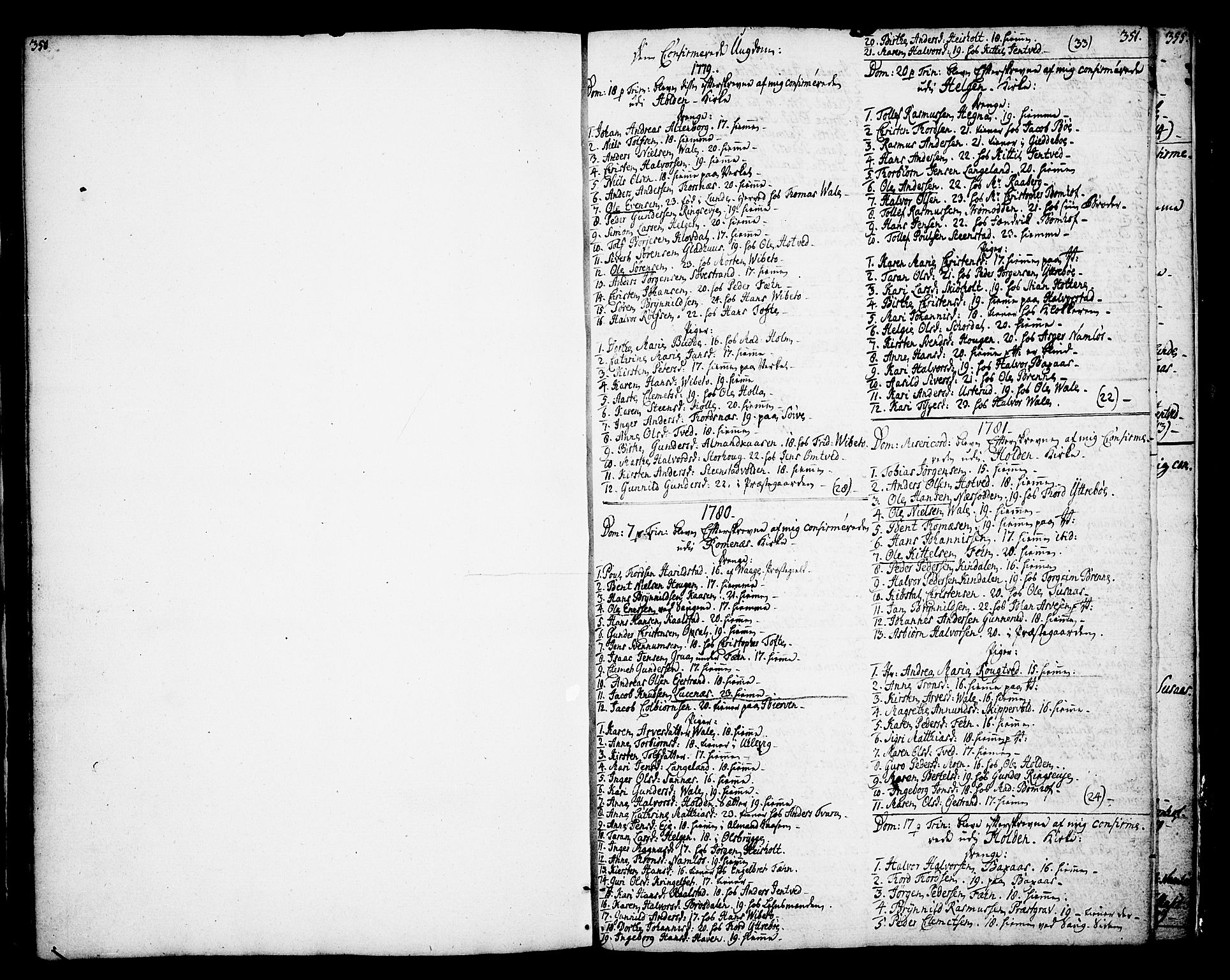 SAKO, Holla kirkebøker, F/Fa/L0002: Ministerialbok nr. 2, 1779-1814, s. 350-351